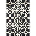 Safavieh Handmade Abstract Moroccan Cambridge Black Wool Rug (3' x 5')