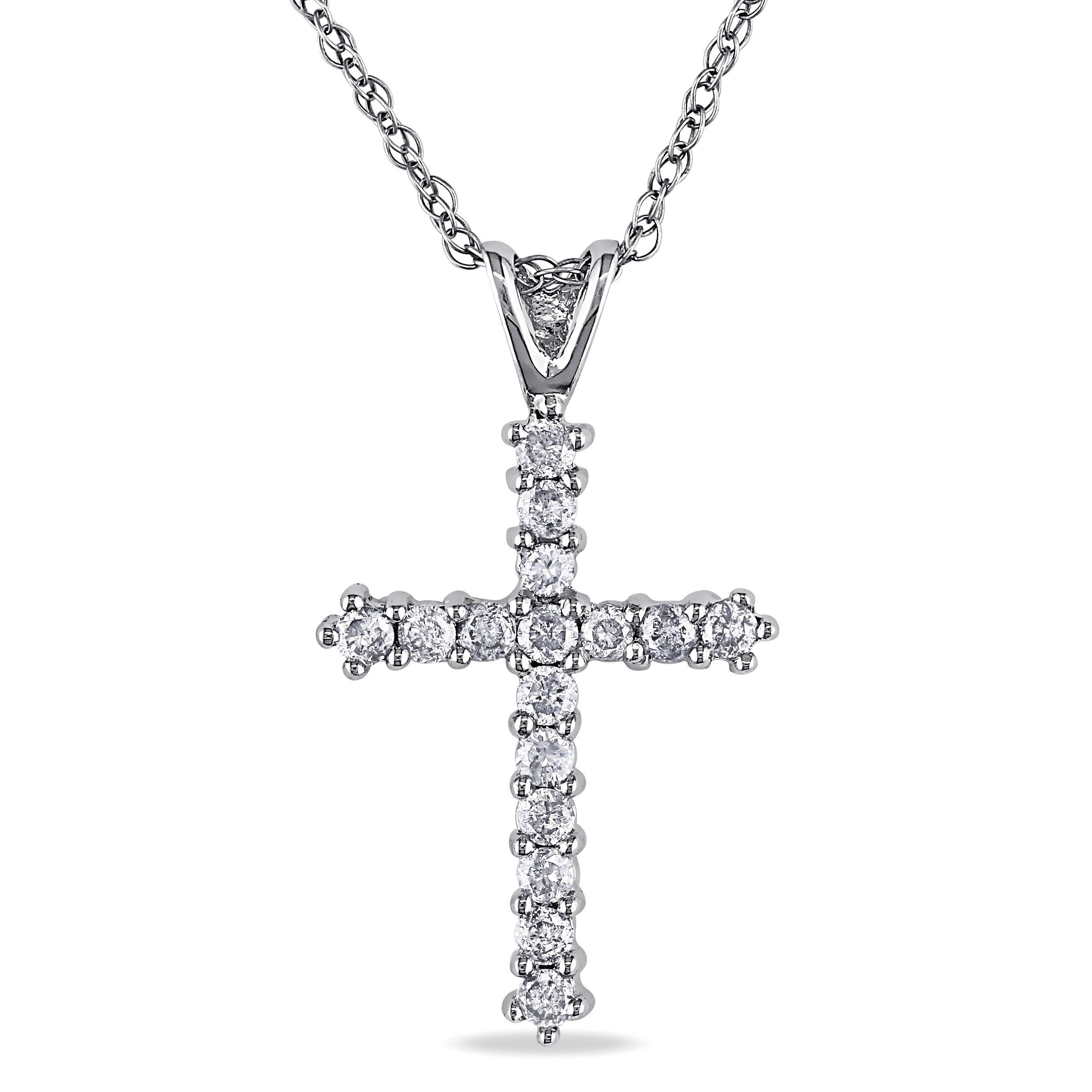 cross london collection pendant gold necklace diamond