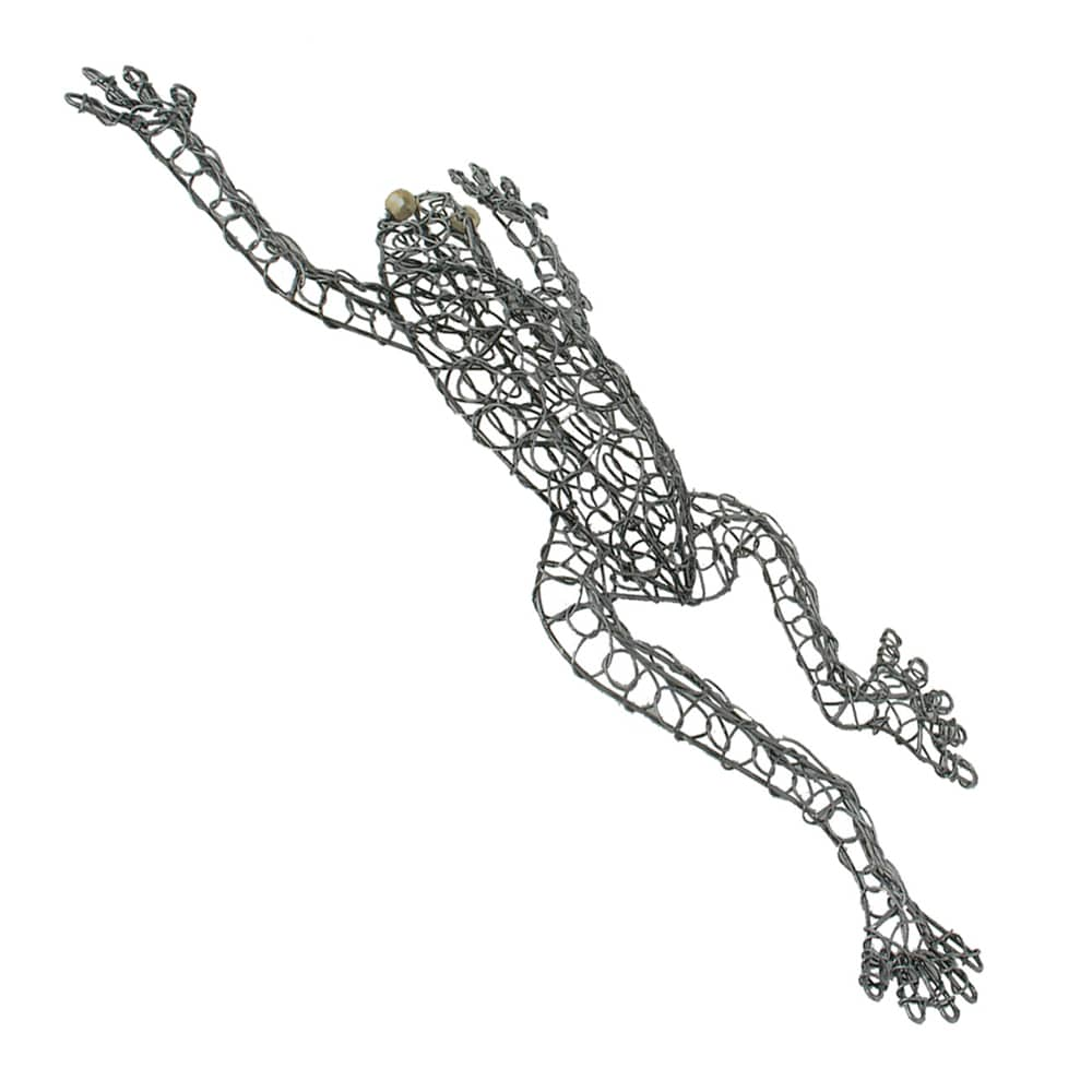 Hand-woven Wire Frog Decorative Figurine, Handmade in Indonesia ...