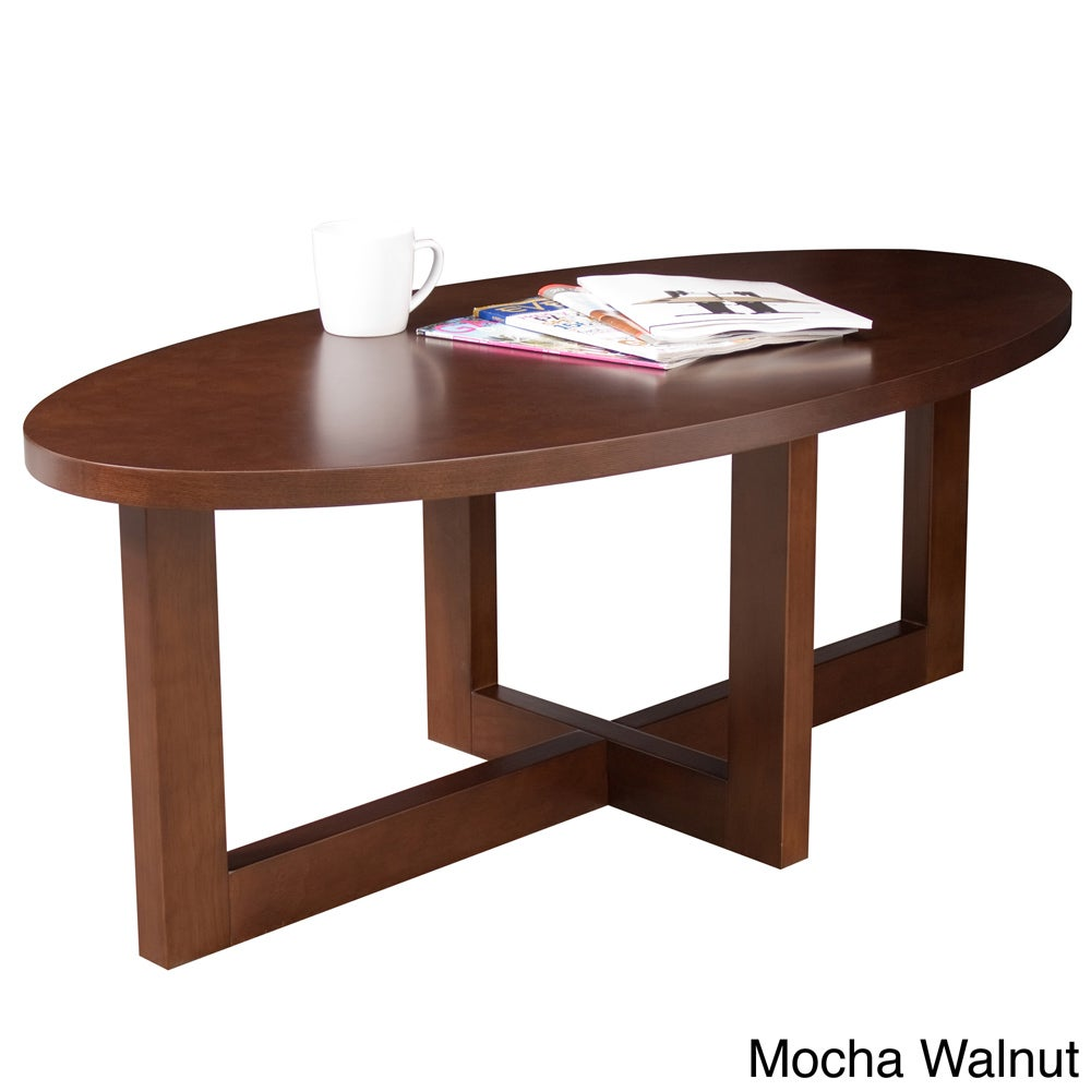 Regency Seating Oval 18 Inch High Wood Coffee Table Free Shipping Today 7967743