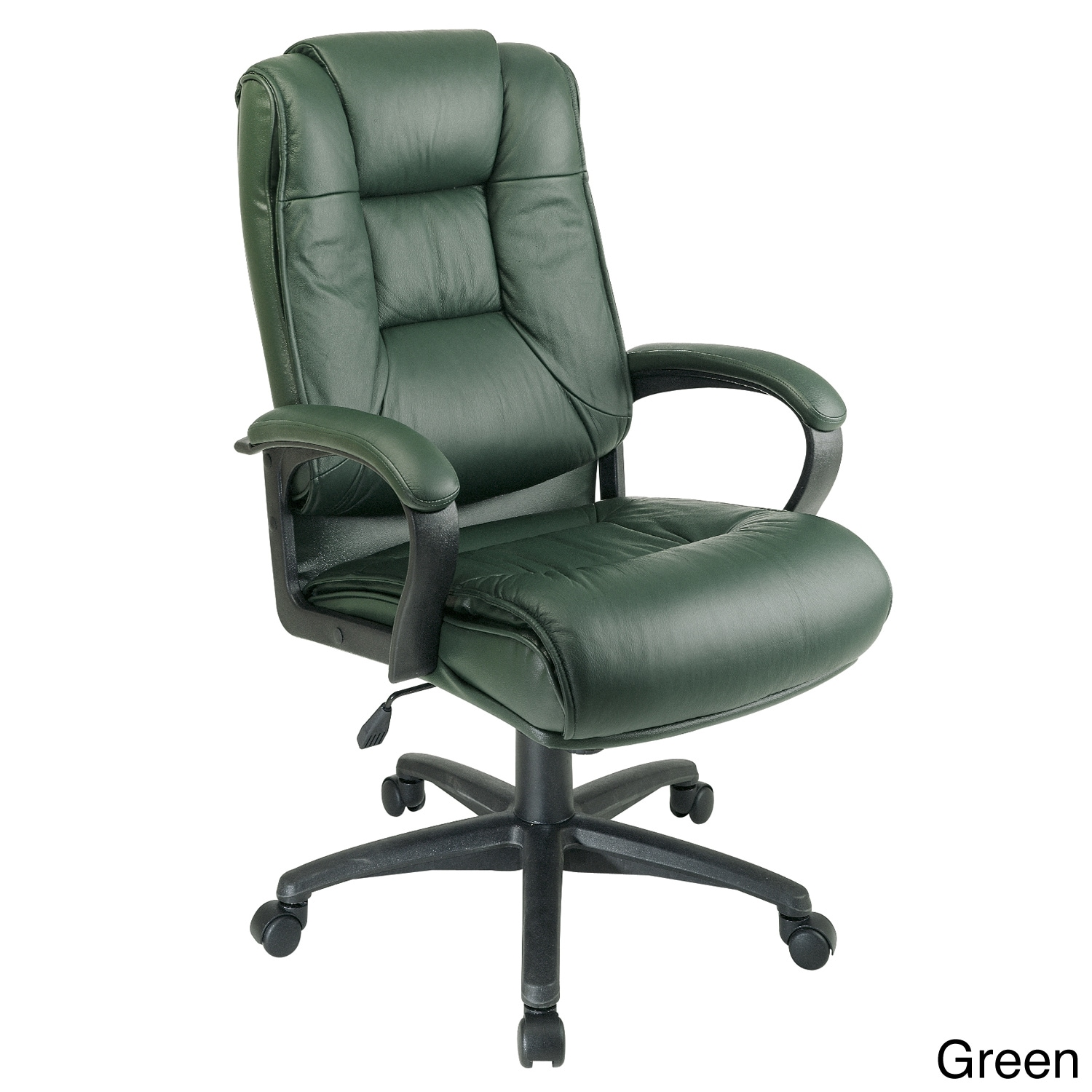 Shop Office Star Products Work Smart Leather Chair   Free Shipping Today    Overstock.com   7969685
