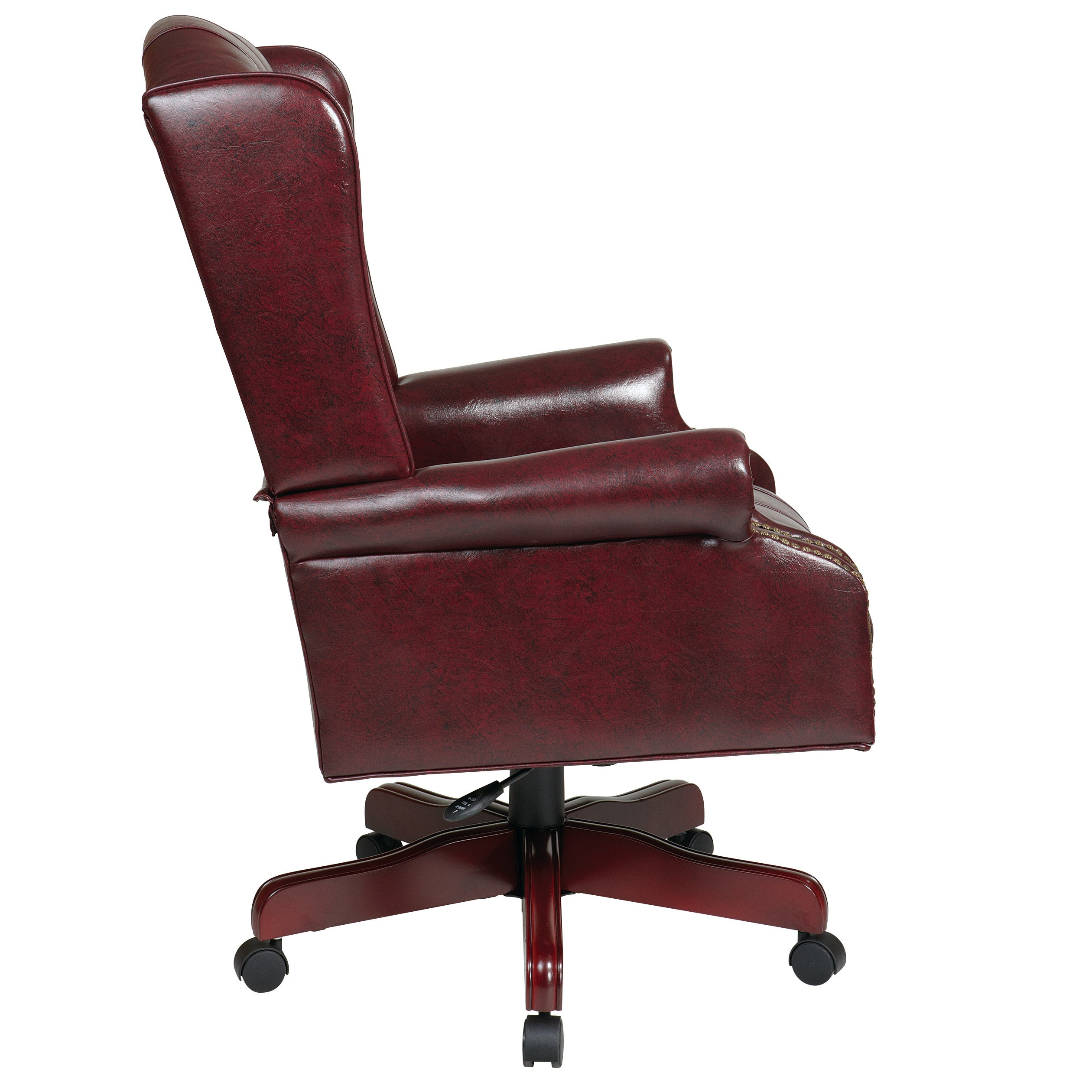 Office Star Products Work Smart Jamestown Vinyl Deluxe High Back Traditional Executive Chair On Free Shipping Today 7969713