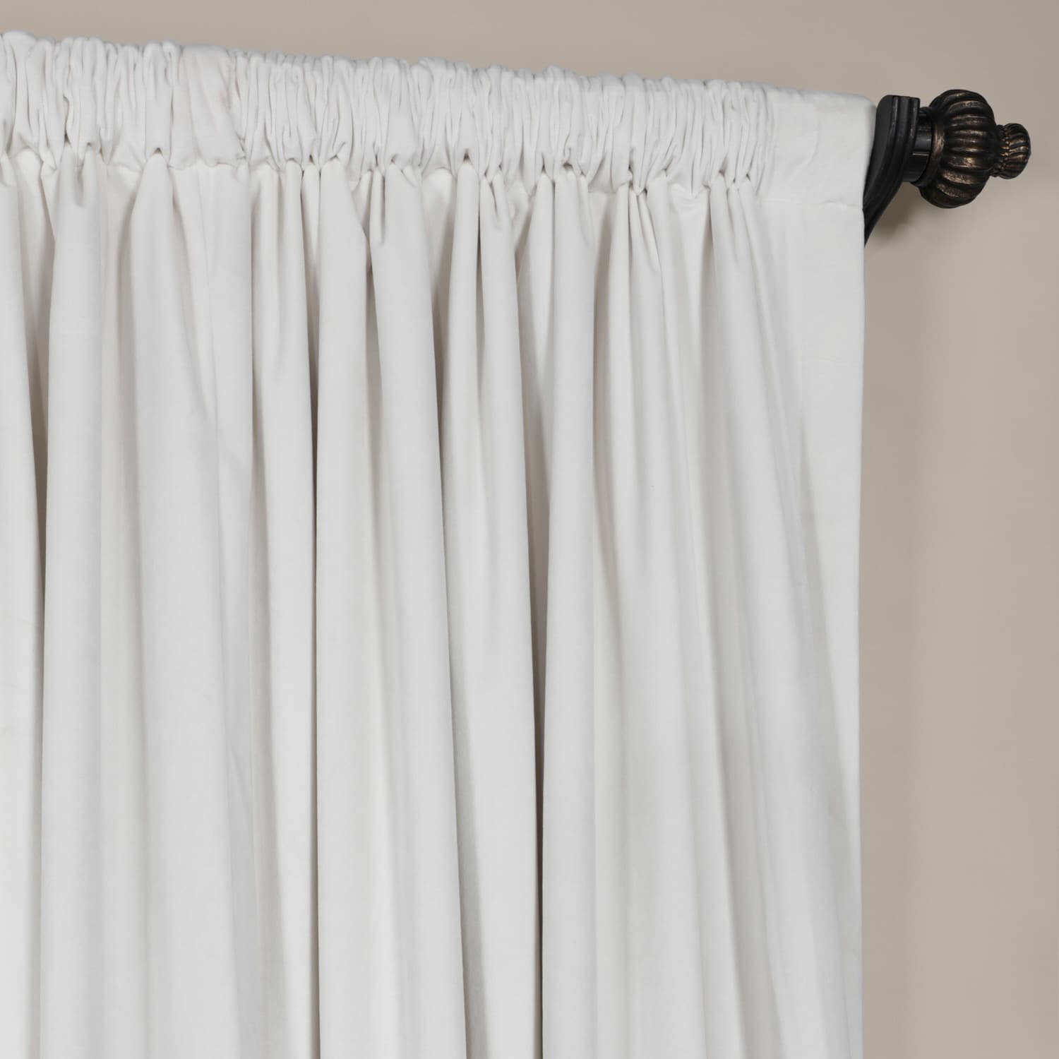Exclusive Fabrics Off White Velvet Blackout Extra Wide Curtain Panel   Free  Shipping Today   Overstock.com   15342540