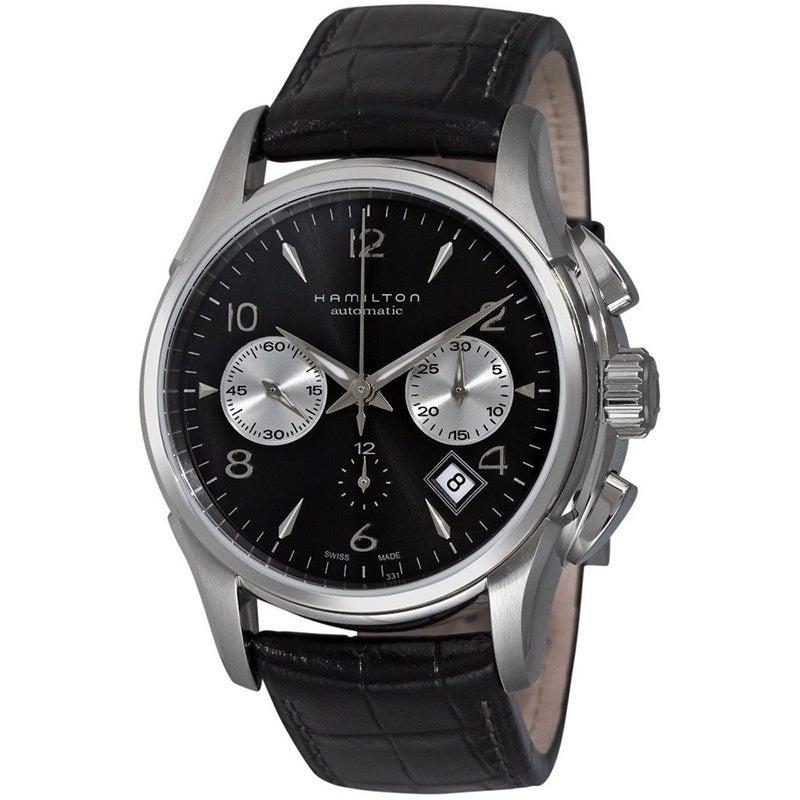 5232cbfa3 Shop Hamilton Jazzmaster Stainless-Steel Auto Chrono Watch - Free Shipping  Today - Overstock - 7974350