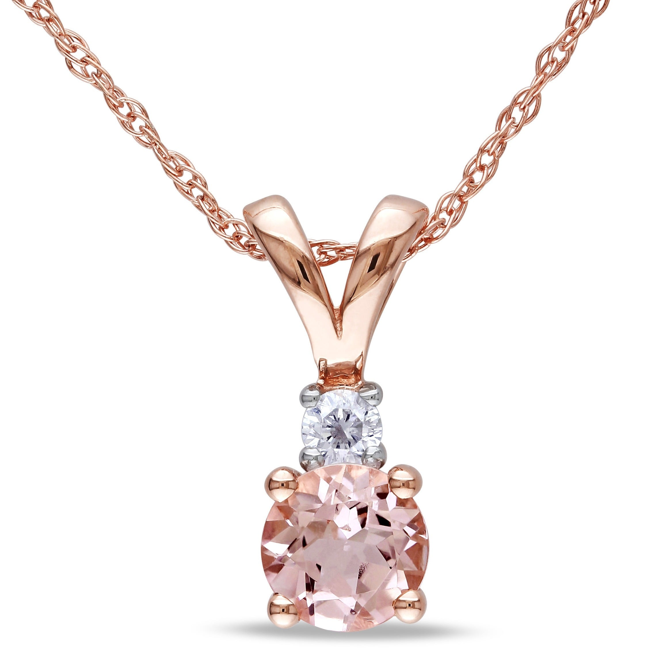 and pin diamonds bahia gold pendant necklace morganite pomellato rose