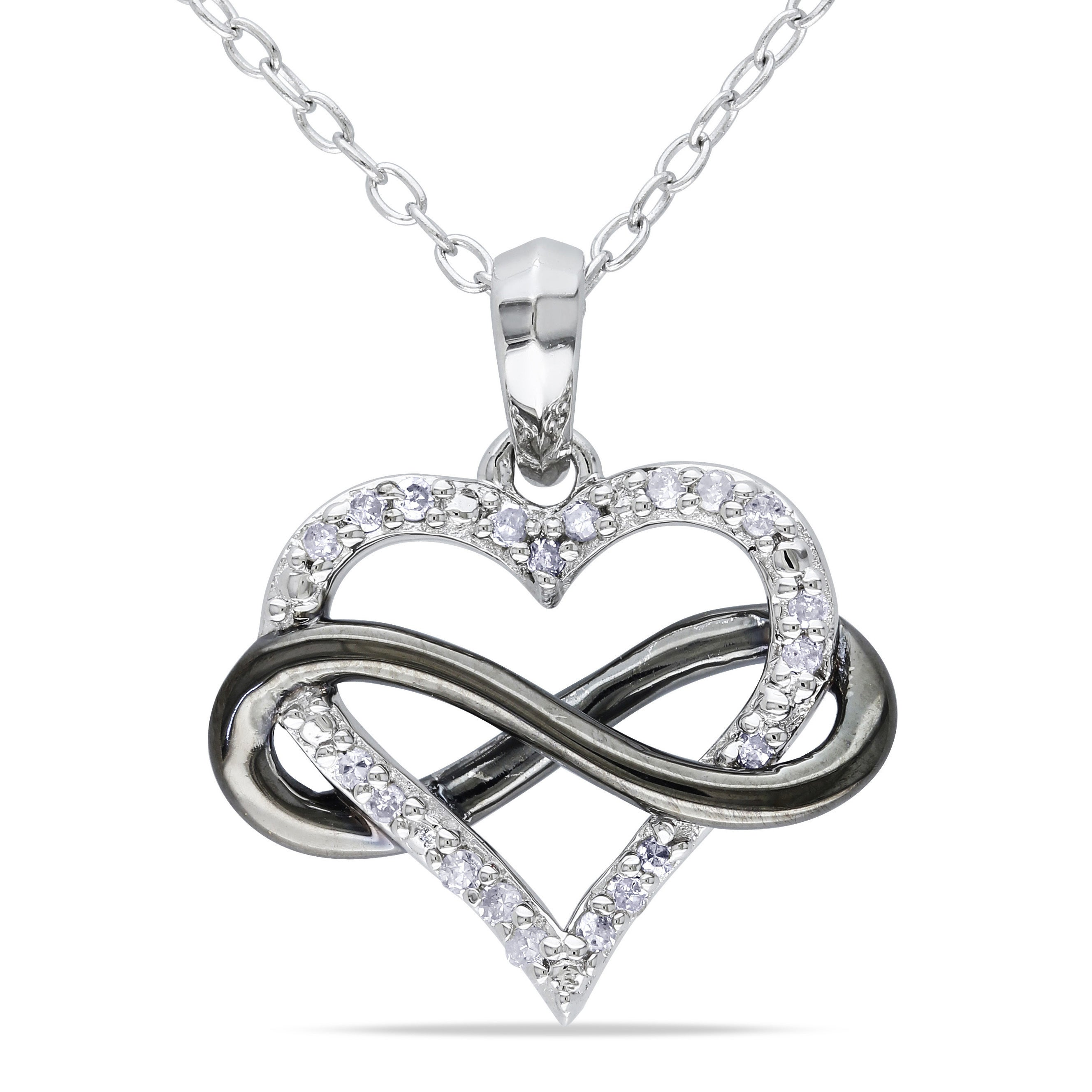 baguette sterling mv to jaredstore silver round diamond hover necklace zm heart jar zoom jared tw ct en