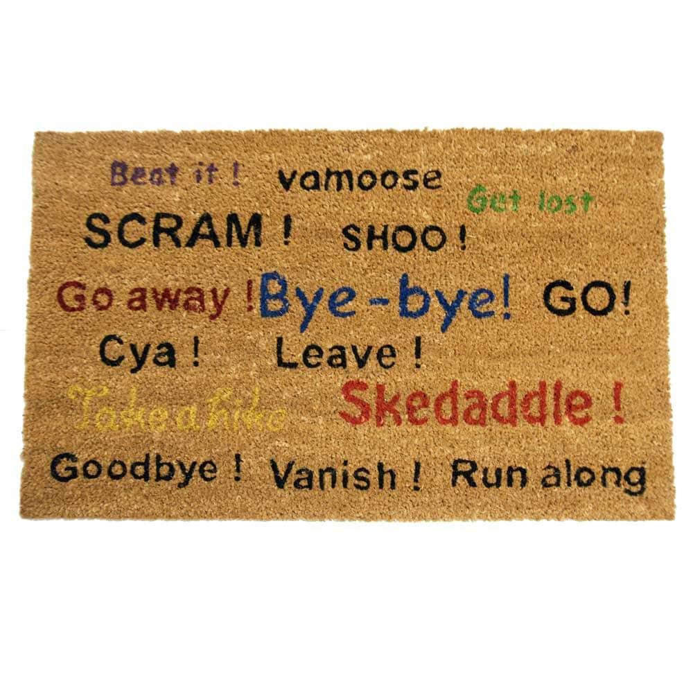 Rubber Cal Go Away! Scram! Leave! Humorous Door Mat (18 X 30)   Free  Shipping On Orders Over $45   Overstock.com   15352600