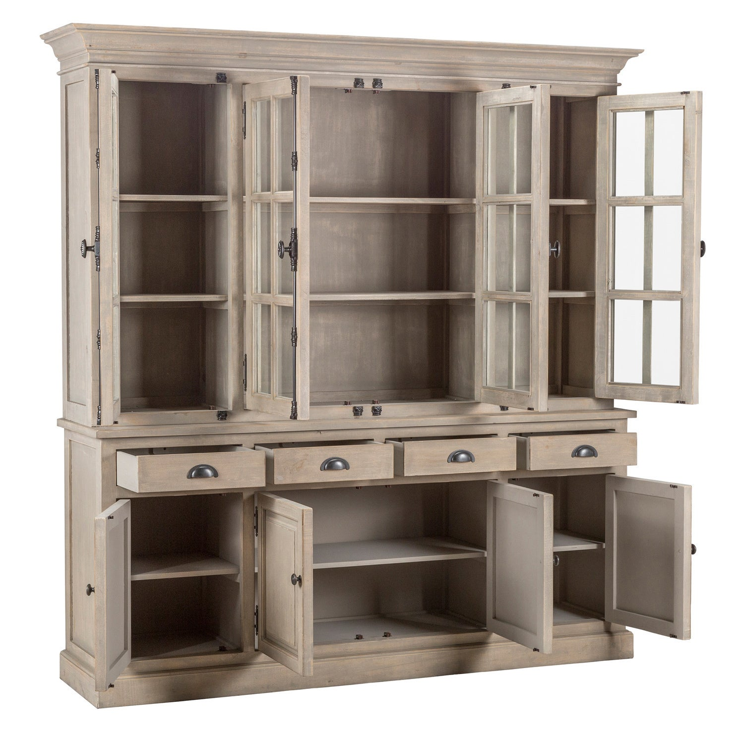 Delicieux Shop Wilson Reclaimed Wood 82 Inch China Cabinet By Kosas Home   Free  Shipping Today   Overstock.com   7986200