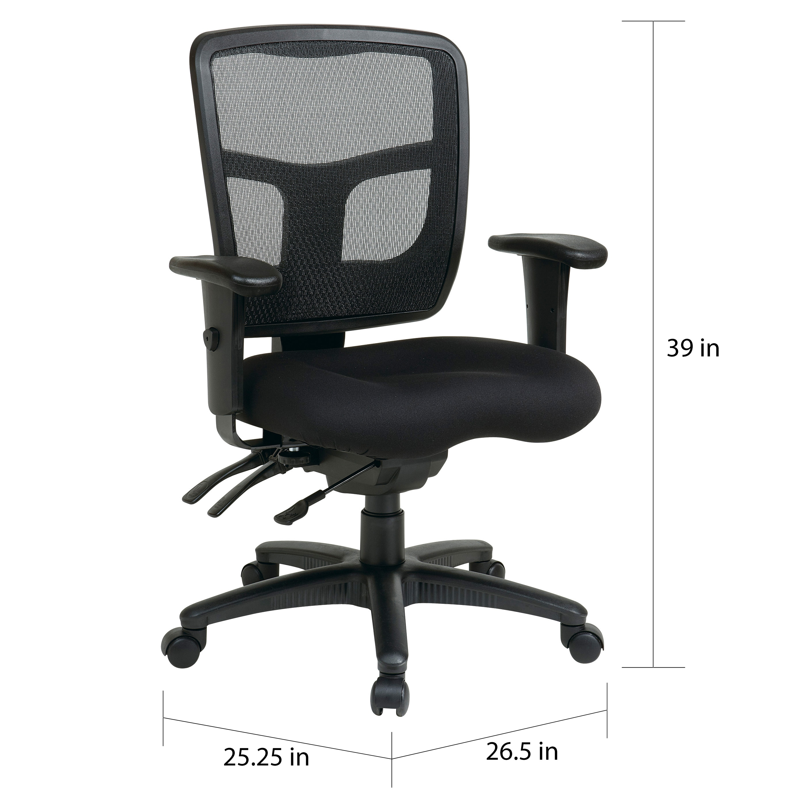 Office Star Pro Line Ii Breathable Progrid Ratchet Back Chair Free Shipping Today 7986406