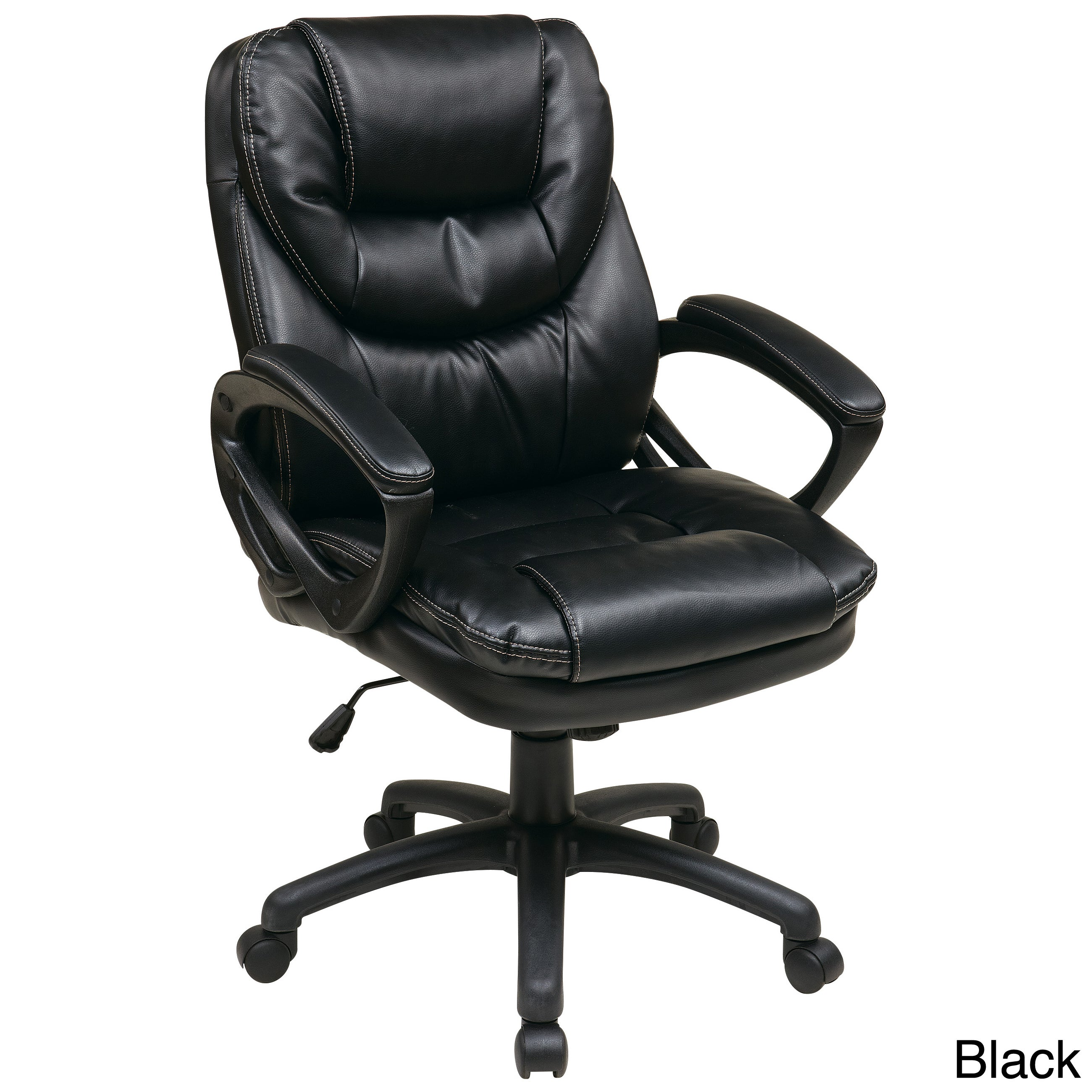 Office Star Products U0027Work Smartu0027 Faux Leather High Back Chair   Free  Shipping Today   Overstock   15354551