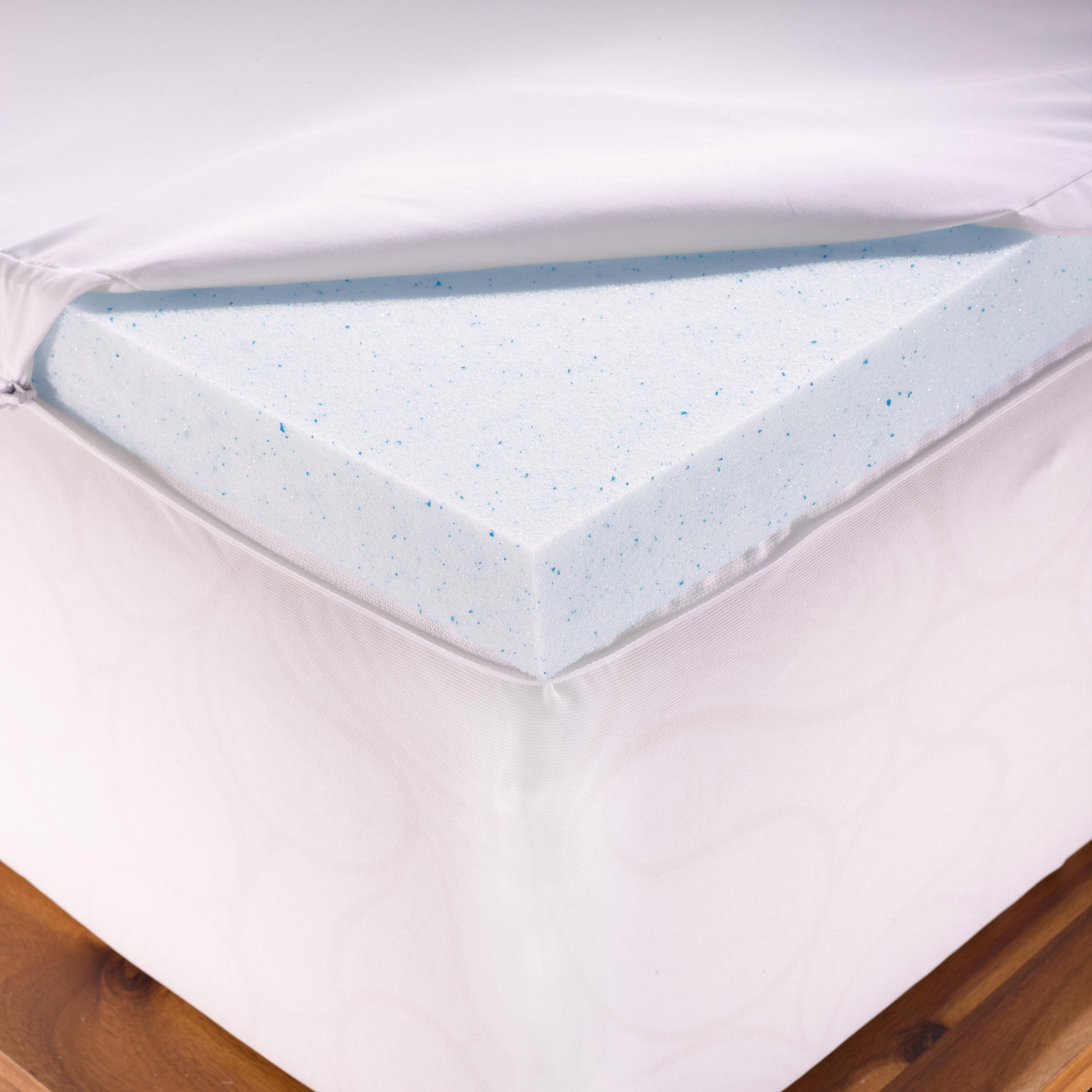 Authentic comfort twin xl 2-inch memory foam mattress topper