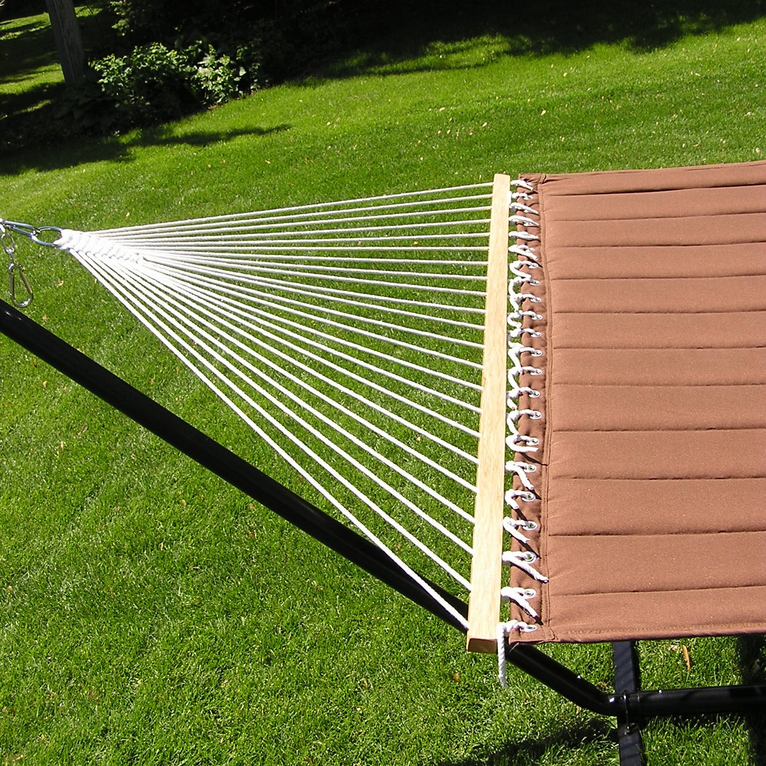 two person hammock with stand. Shop Grand Quilted Two-person Hammock And Stand Set - Brown On Sale Free Shipping Today Overstock.com 7992289 Two Person With U