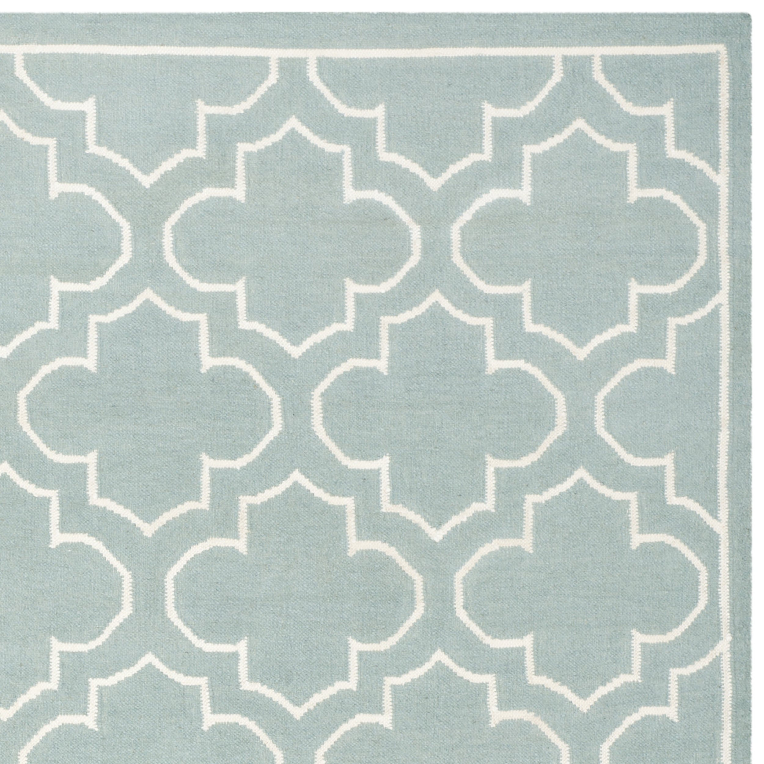 Safavieh Hand Woven Moroccan Reversible Dhurrie Blue Wool Rug 8  # Muebles Mio Colombia