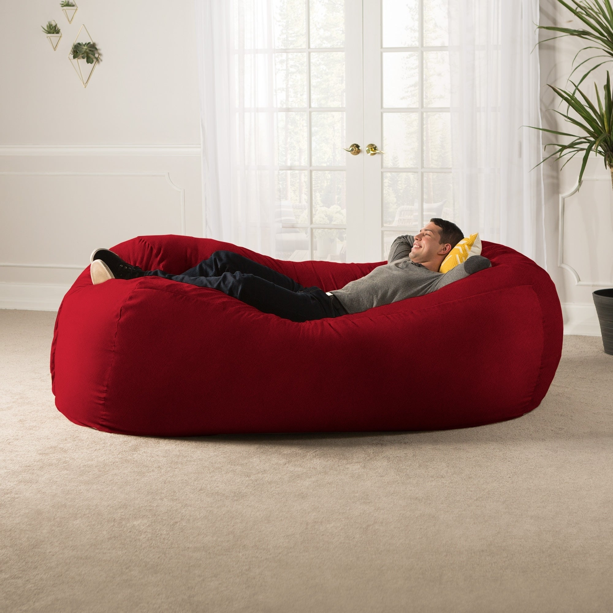 Shop Jaxx 7u0027 Bean Bag Sofa   Free Shipping Today   Overstock.com   7998725