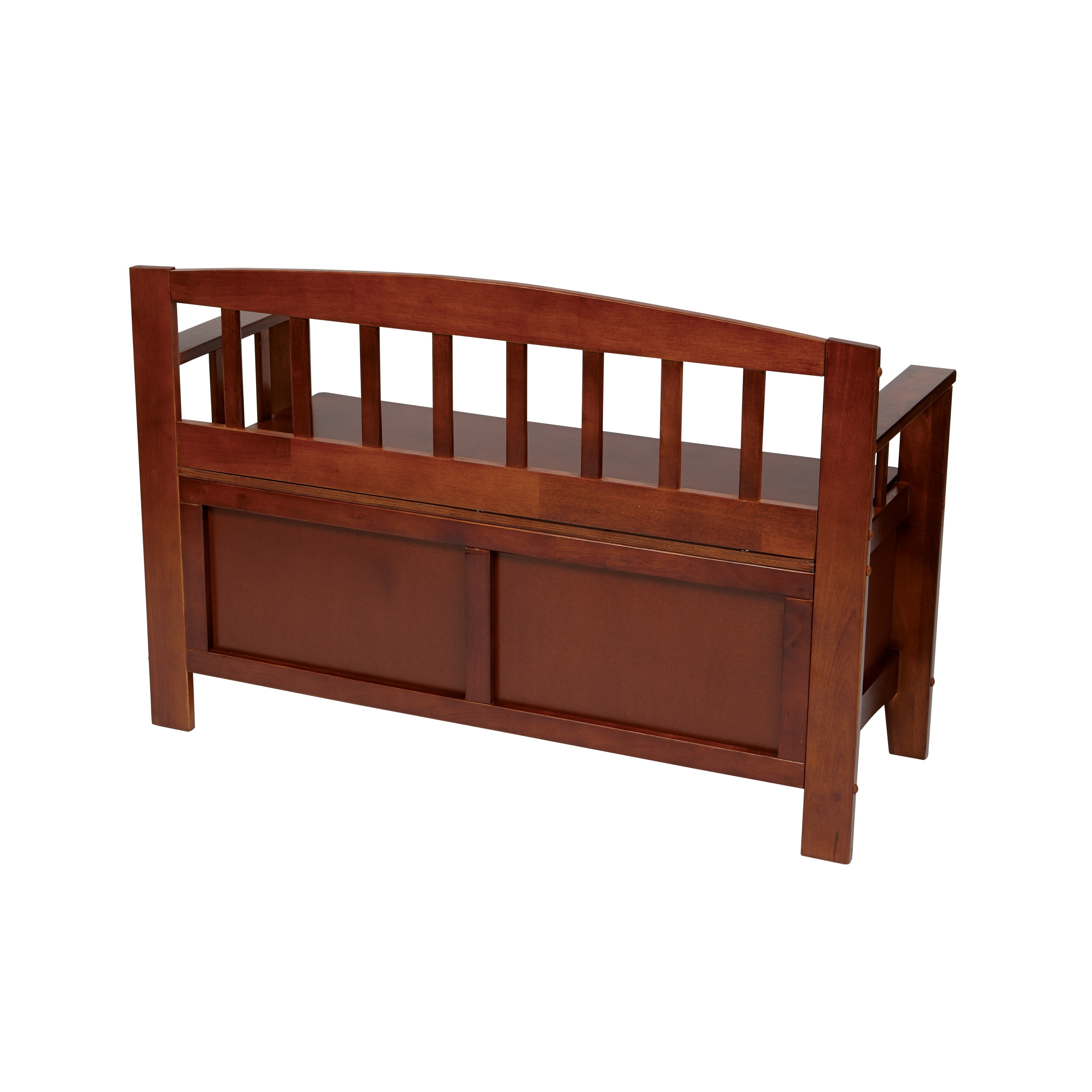 Shop Metro Walnut Finished Mission Back Entryway Storage Bench - Free Shipping Today - Overstock.com - 7998936  sc 1 st  Overstock.com & Shop Metro Walnut Finished Mission Back Entryway Storage Bench ...
