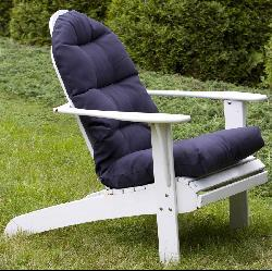 Shop Adirondack Outdoor Blue Chair Cushion Free Shipping Today
