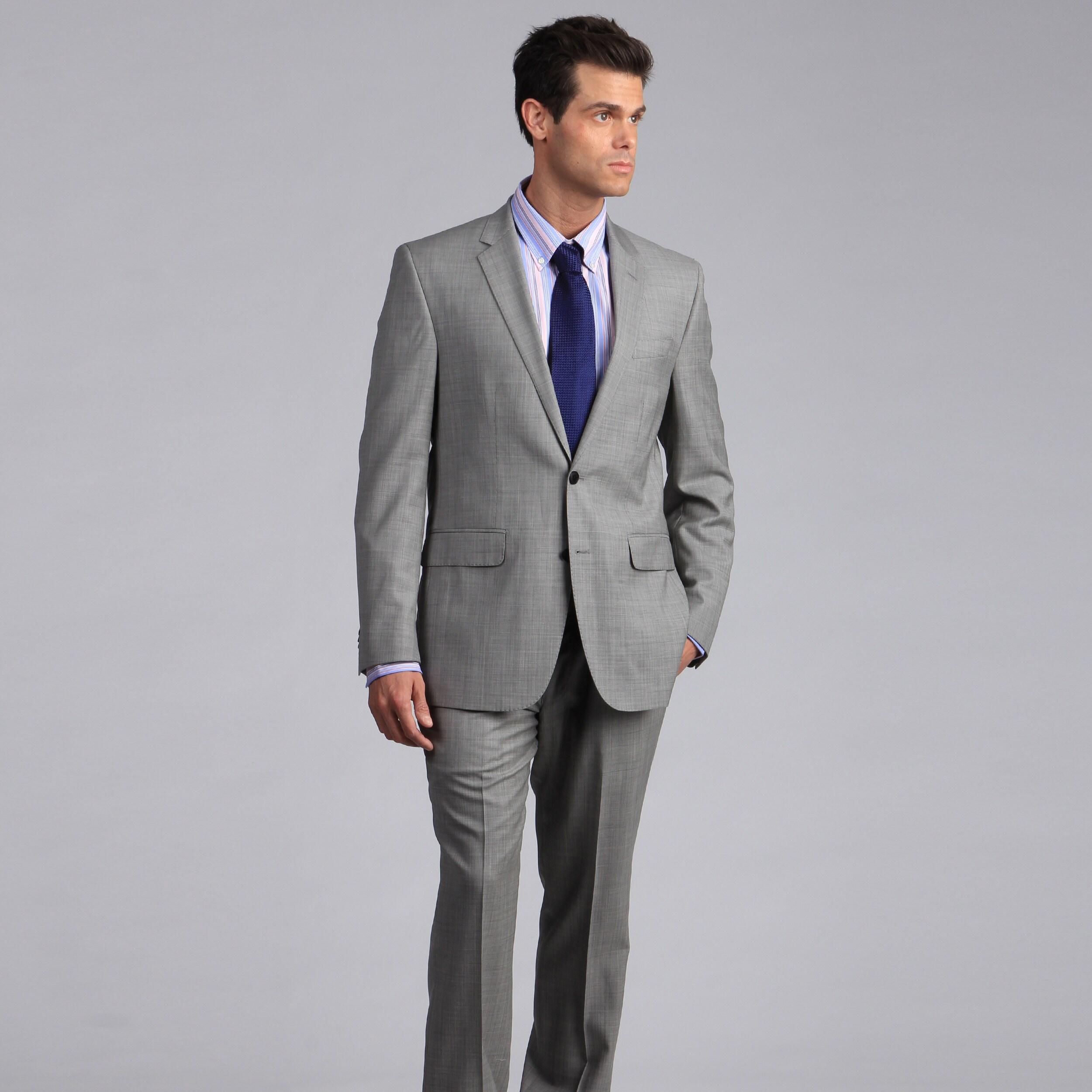 online suit plain grey suitsupply light gray pin store washington