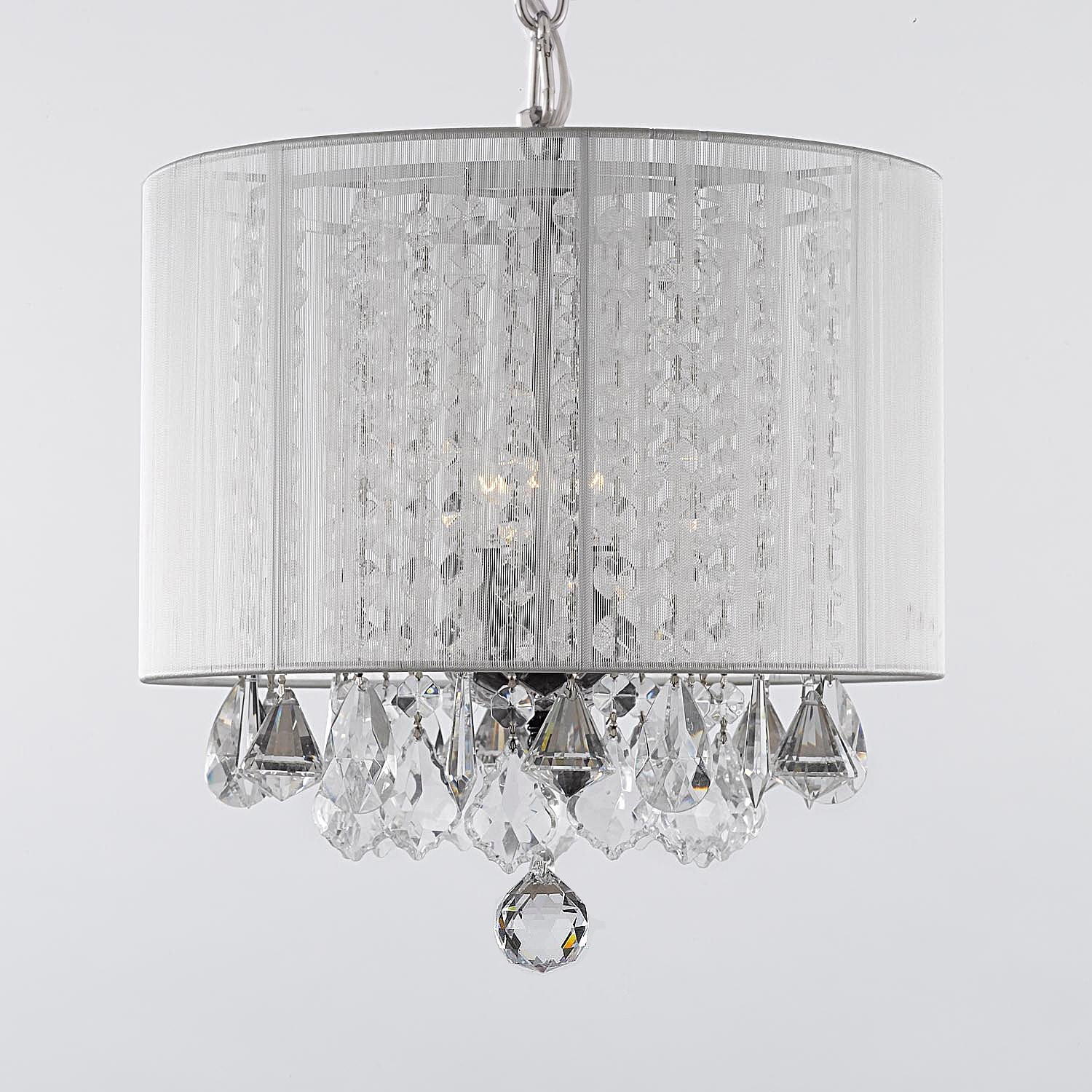 Gallery 3 light Crystal Chandelier with Shade Free Shipping