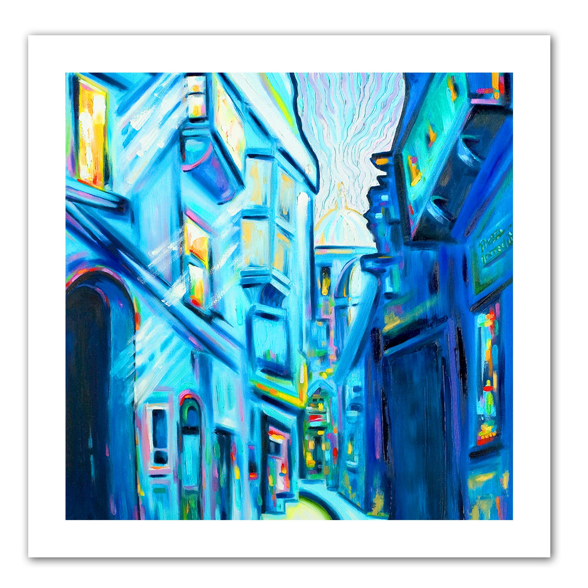 Susi Franco \'Magical Alleys of Venice\' Unwrapped Canvas - Blue ...