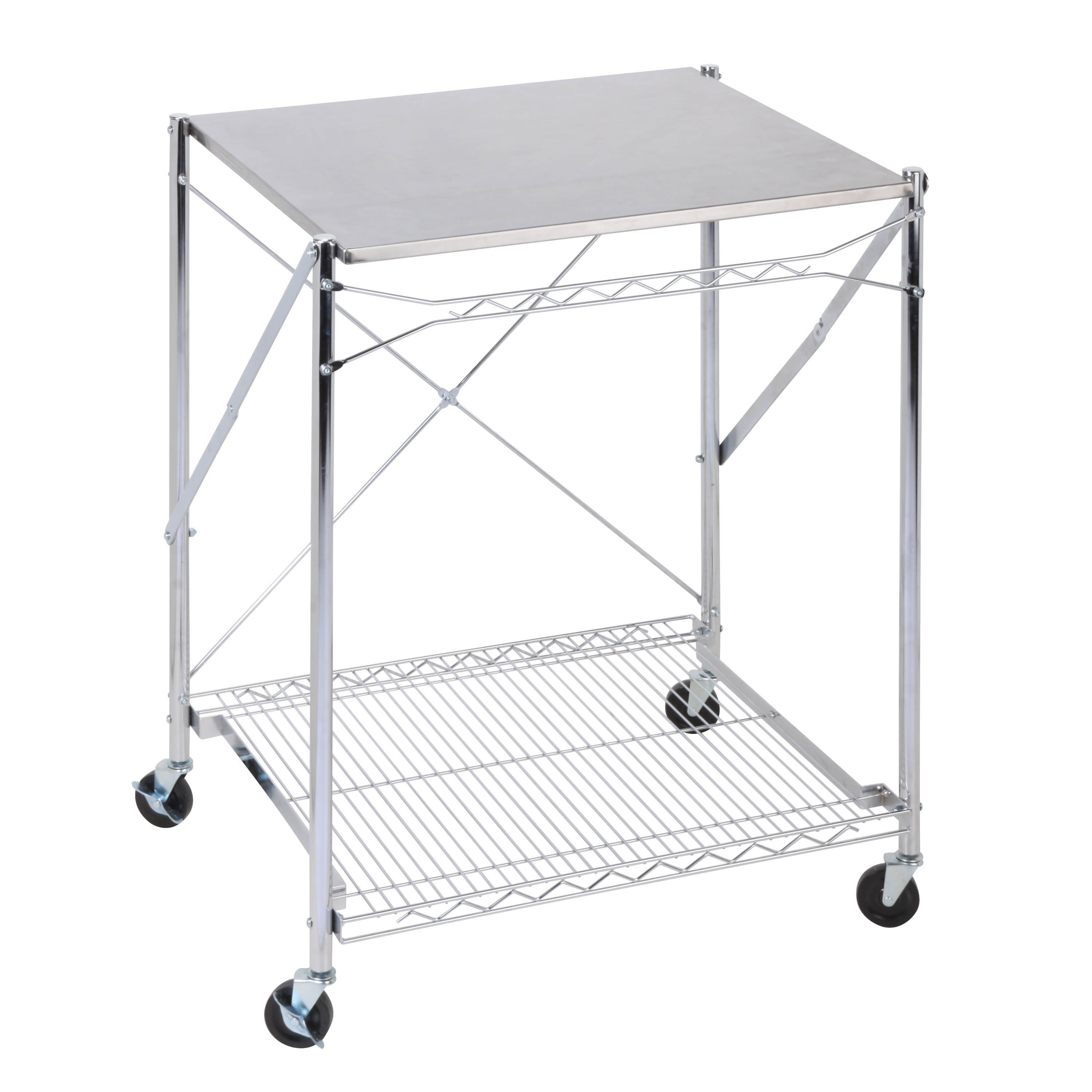 Shop Honey Can Do Folding Urban Stainless Steel Work Table   Free Shipping  Today   Overstock.com   15369068