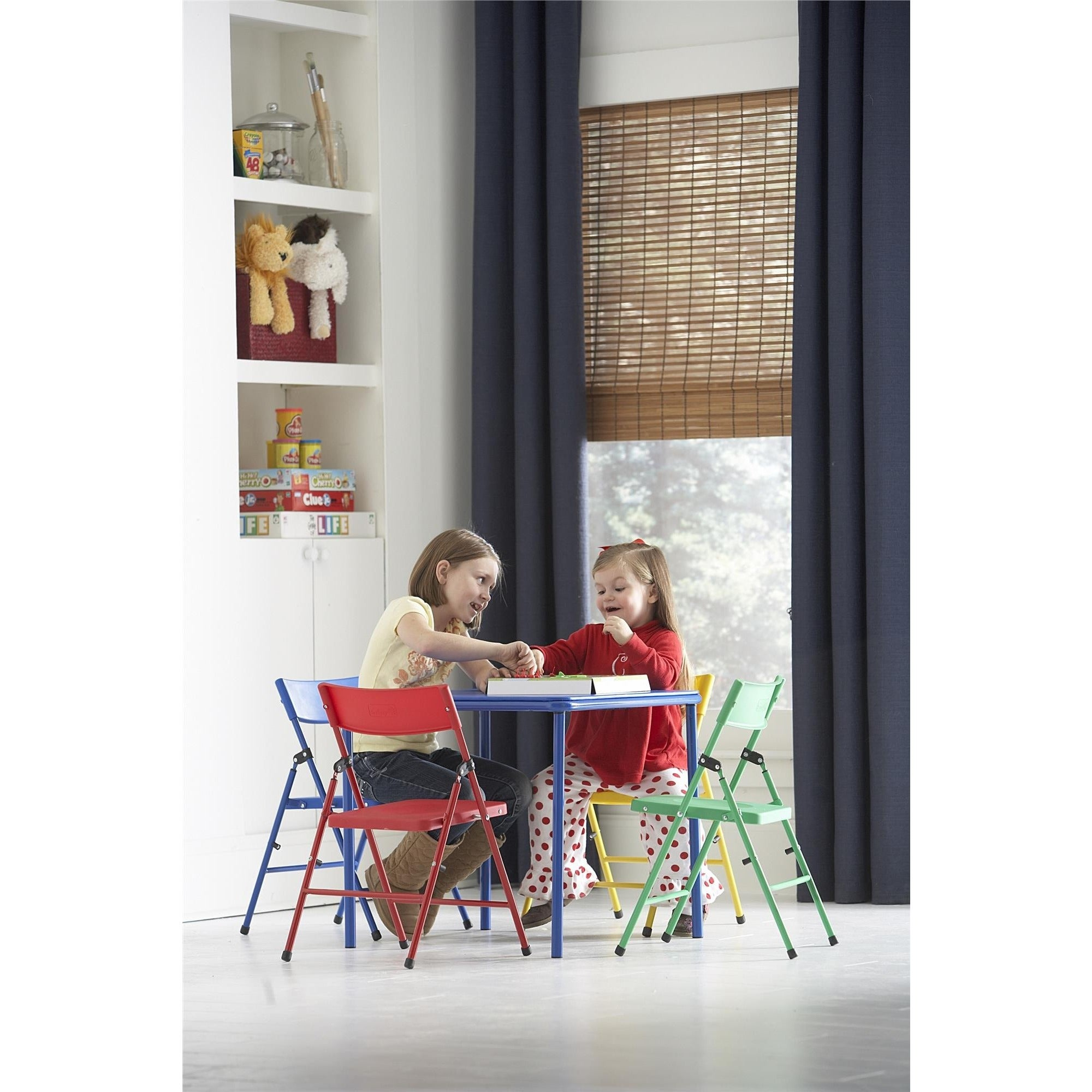 Shop Cosco Kid S 5 Piece Colored Folding Chair And Table Set Free