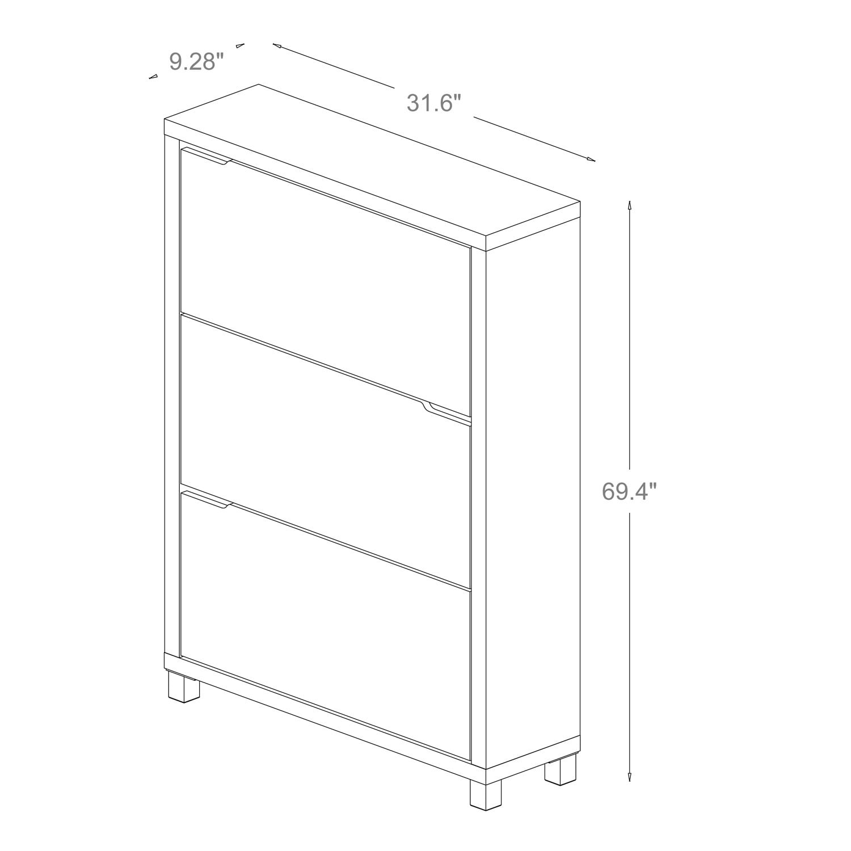 Baxton Studio Simms Modern White Shoe Cabinet Free Shipping Today 8009734