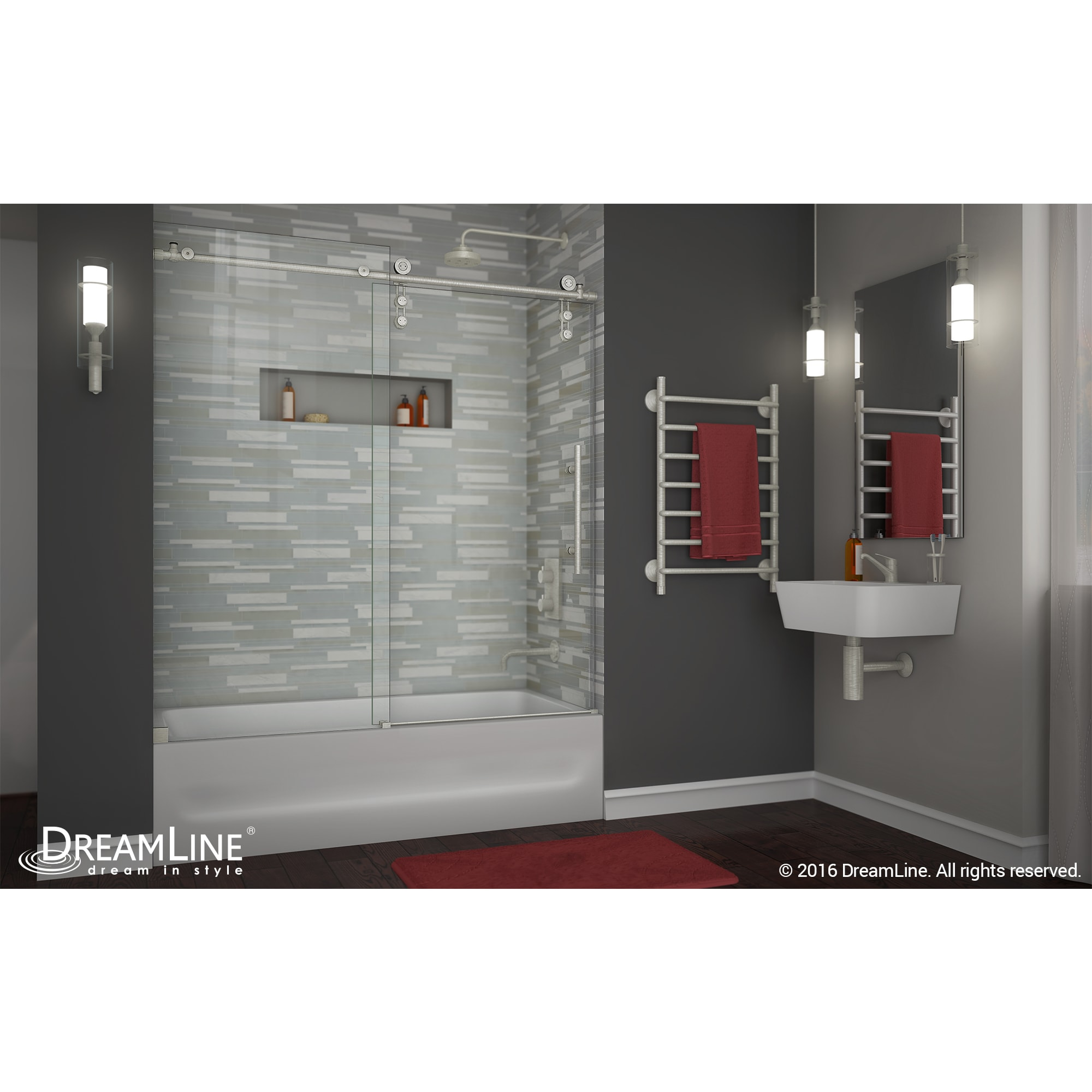 Shop Dreamline Enigma Z 55 59 In W X 62 In H Fully Frameless