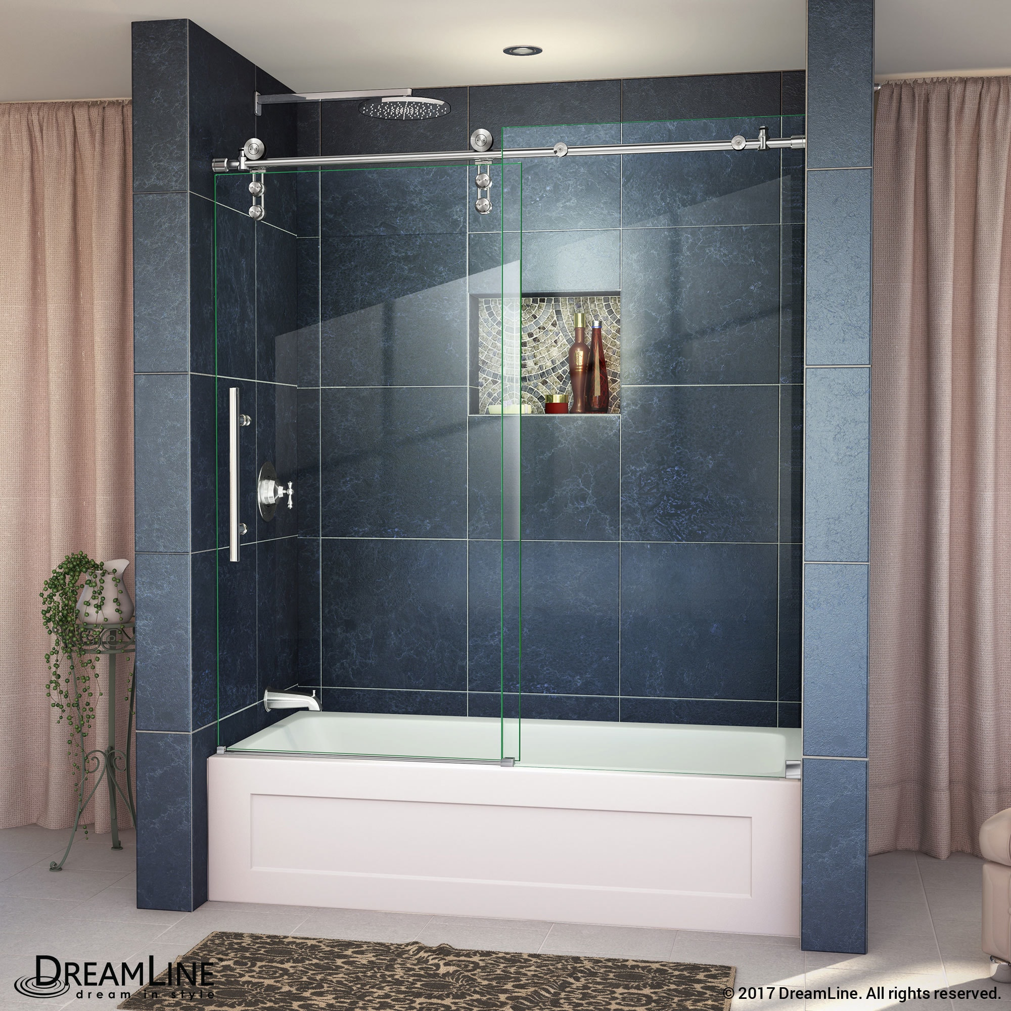 x detail doors oil shower sliding rubbed frameless door air dreamline enigma w finish bronze shdr p roller h
