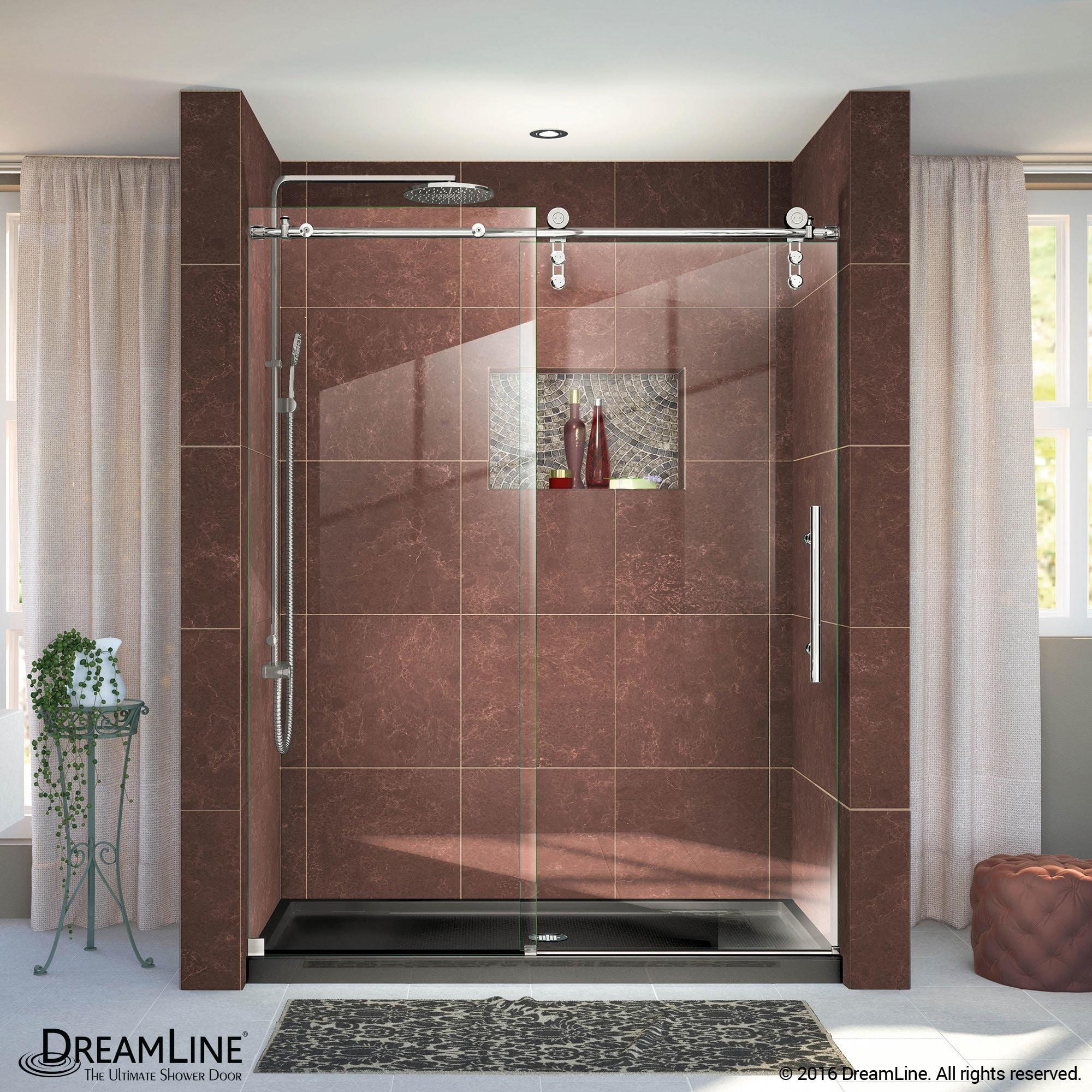 Dreamline Enigma Z 44 To 48 In Fully Frameless Sliding Shower Door