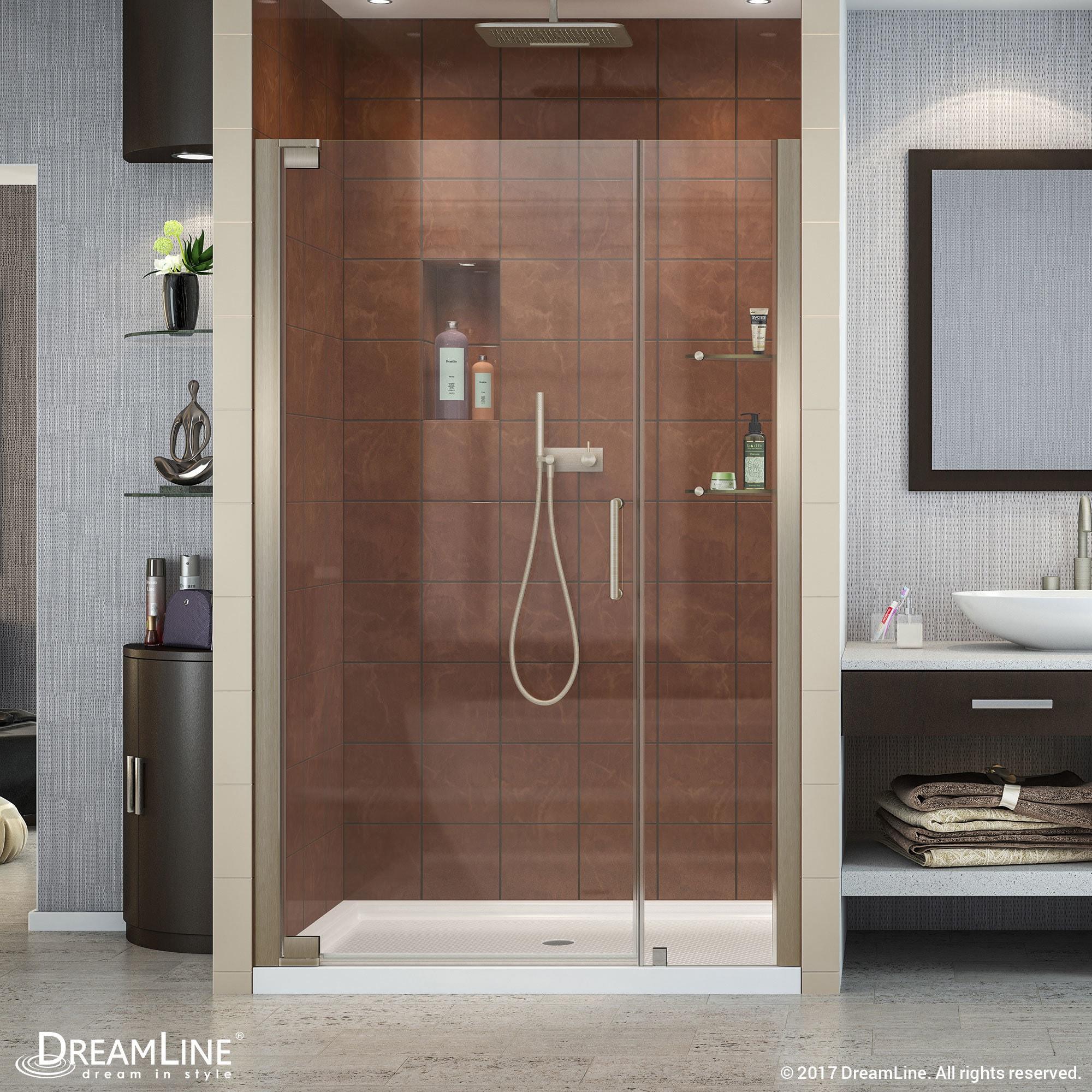 Shop Dreamline Elegance 46 48 In W X 72 In H Frameless Pivot