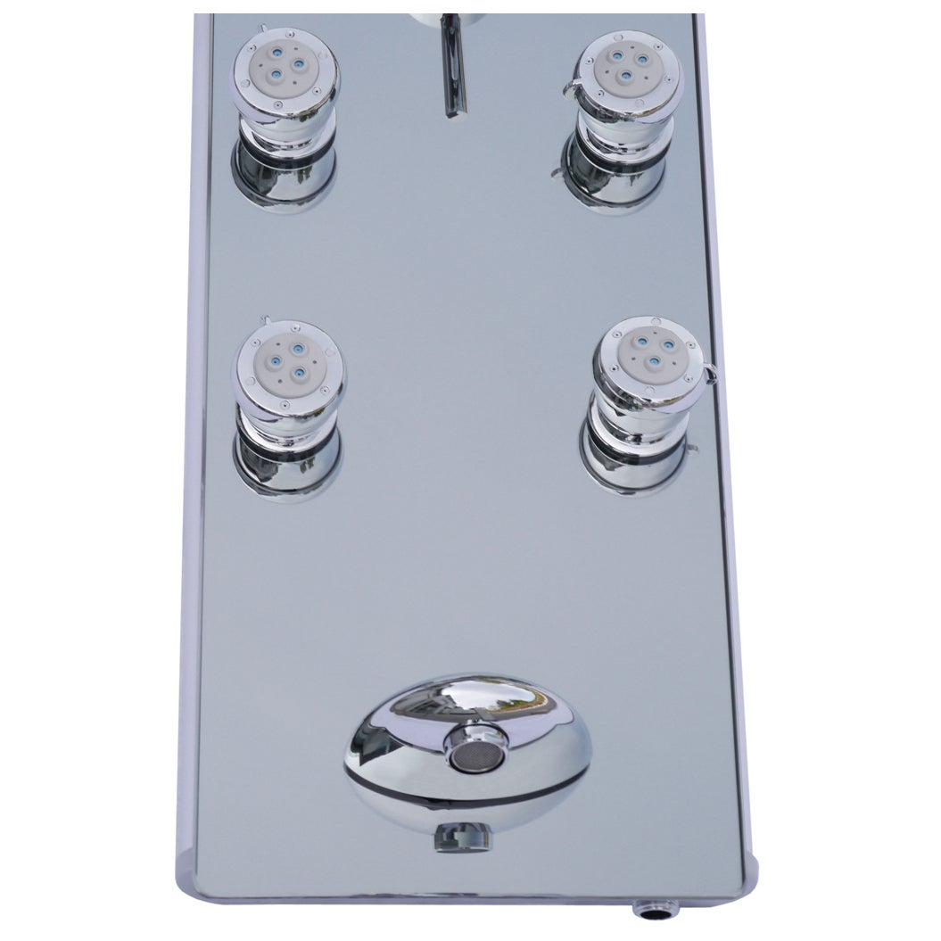 Shop Blue Ocean 52-inch Aluminum Shower Panel Tower with Rainfall ...