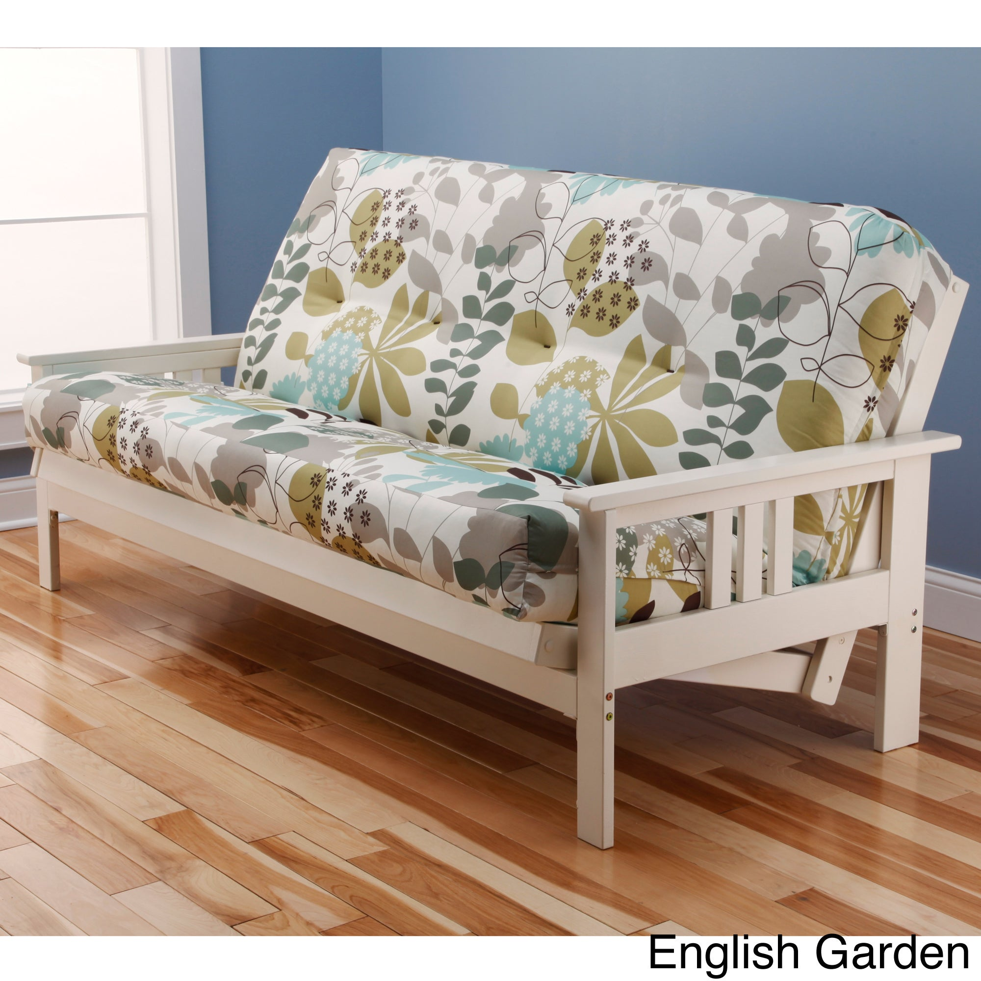 Somette Beli Mont Multi Flex Antique White Wood Futon Frame With Innerspring Mattress Free Shipping Today Com 8016469
