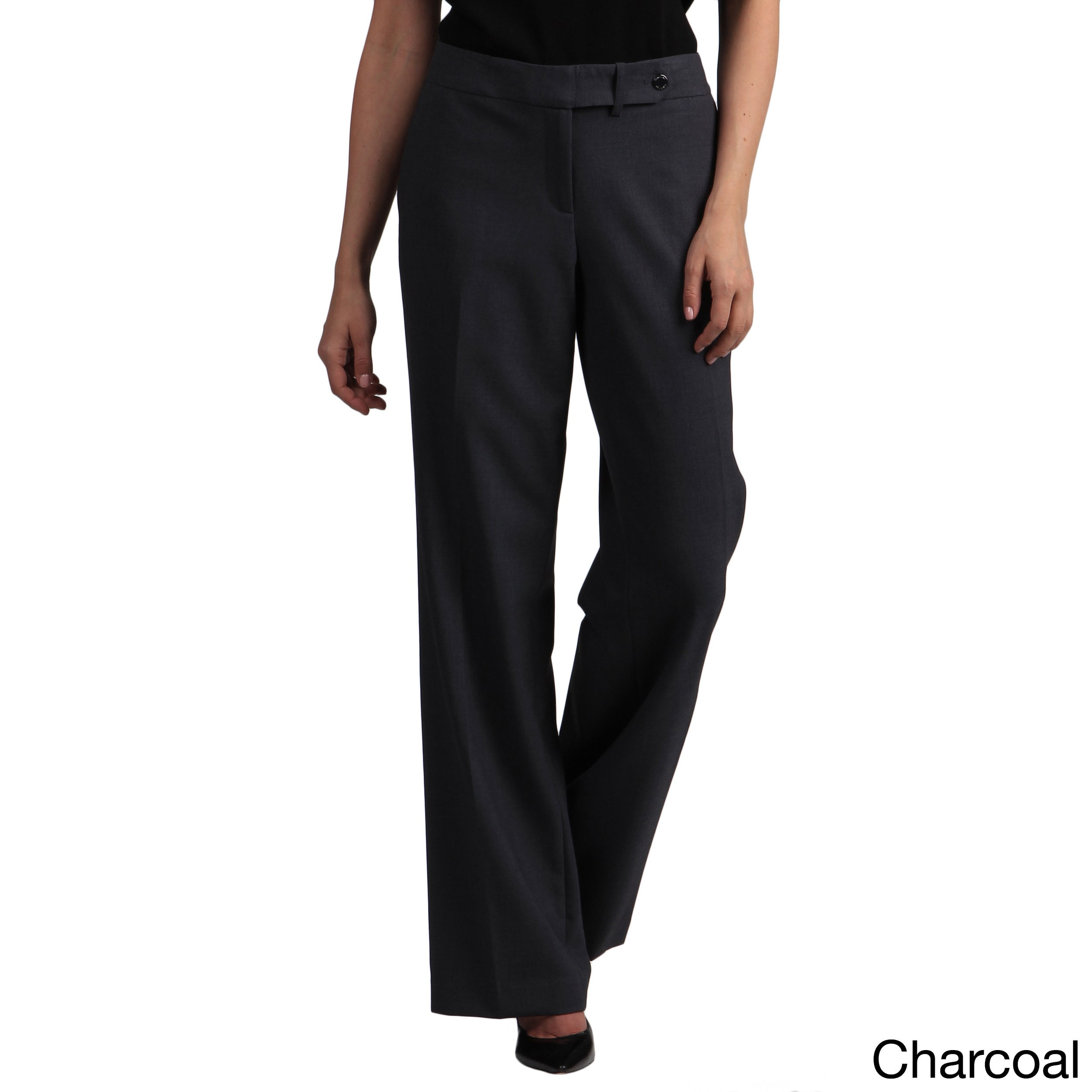 465850da458ebf Shop Calvin Klein Women's Straight Classic Fit Pants - Free Shipping Today  - Overstock - 8019890