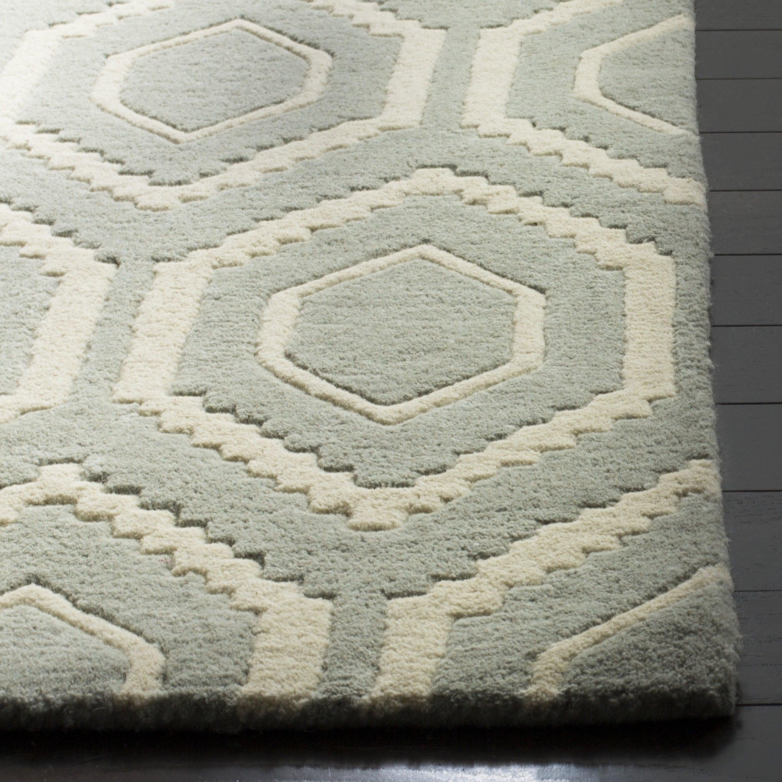 geometric rug pattern. Safavieh Handmade Moroccan Grey Wool Geometric Rug - 8\u00279\u0027 X 12\u0027 Free Shipping Today Overstock 15382883 Pattern