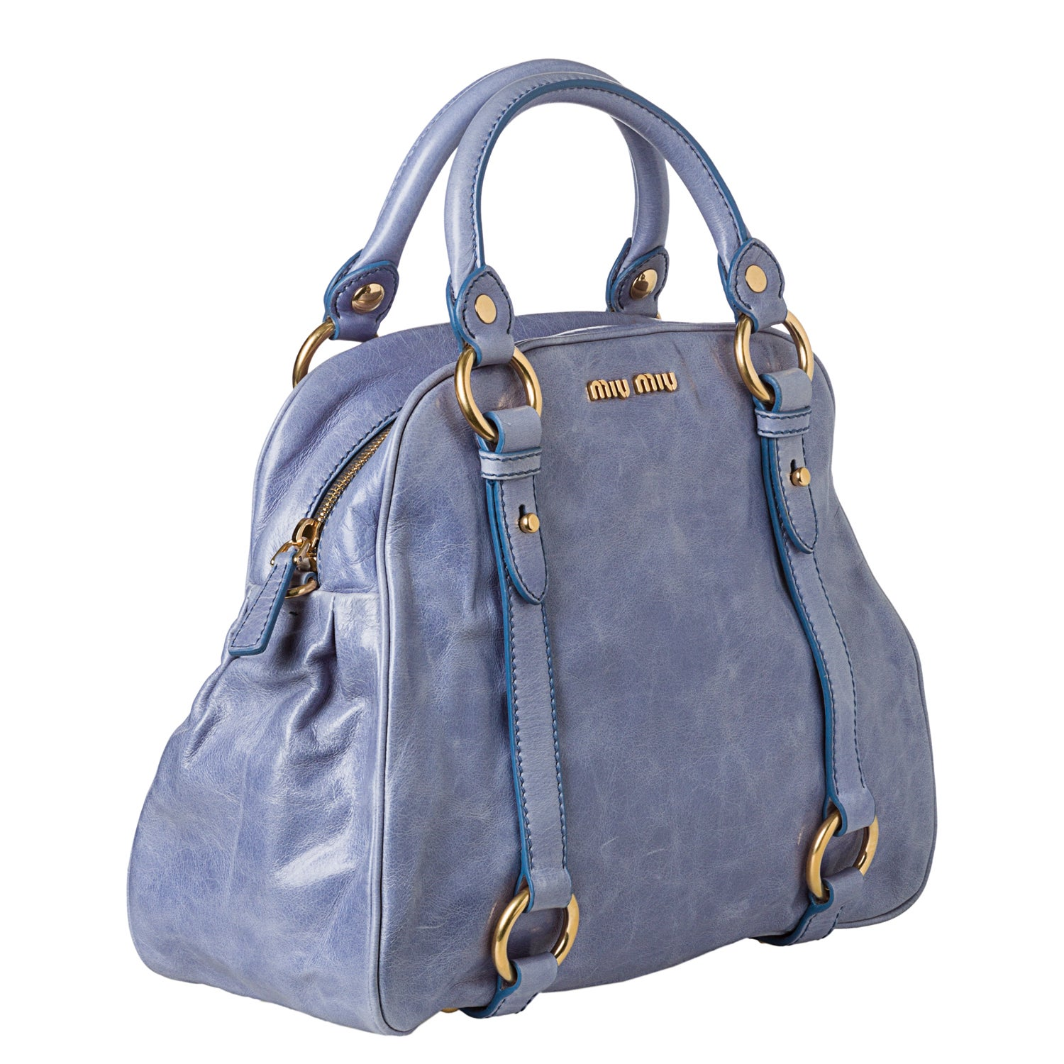 3c1727a5f05f Shop Miu Miu  Vitello  Shine Satchel - Free Shipping Today - Overstock.com  - 8021803