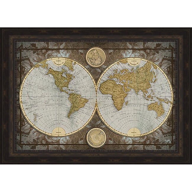 Elizabeth Medley \'World Map\' Framed Print - Free Shipping Today ...