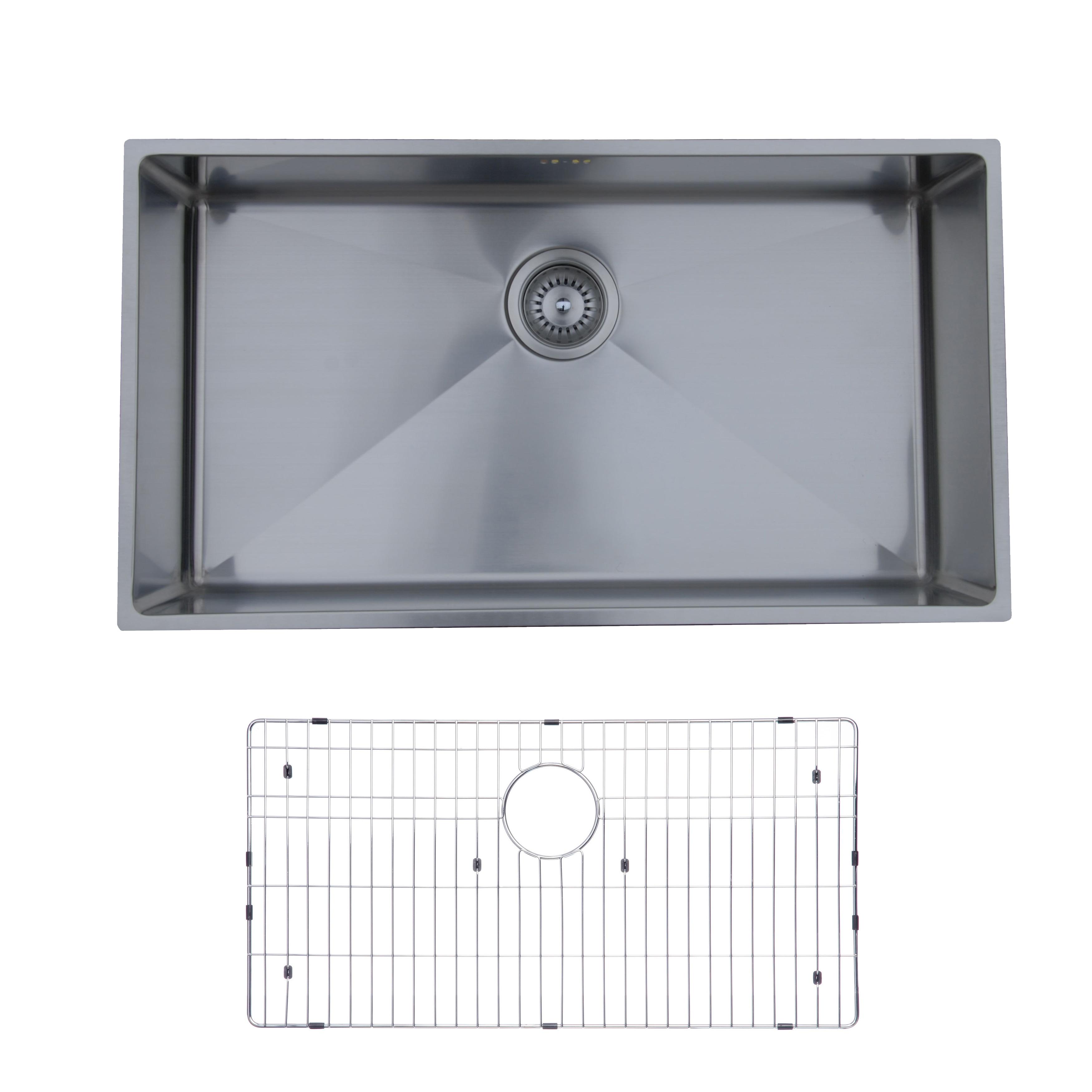 Shop Ukinox RS838 Single Basin Stainless Steel Undermount Kitchen ...