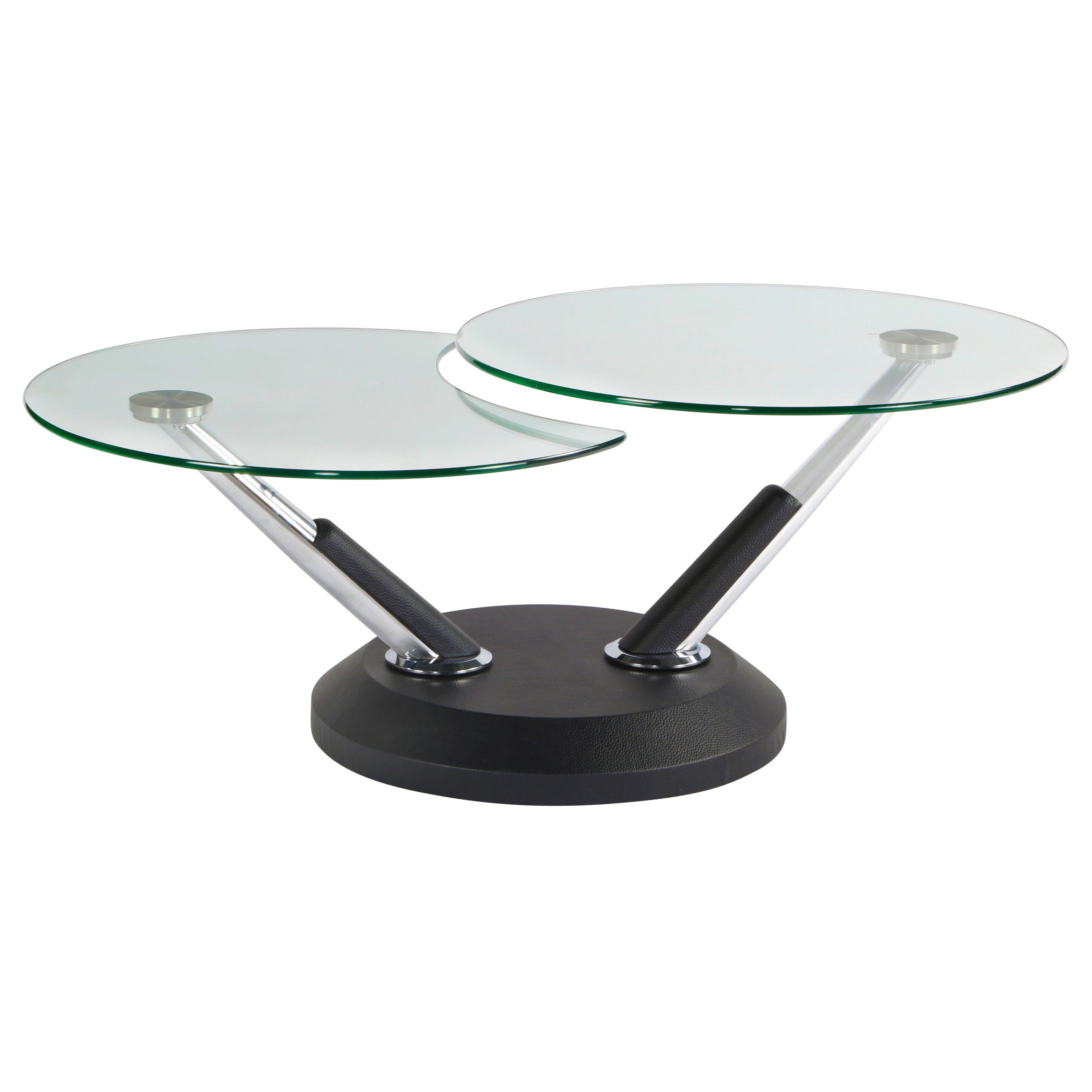Glass Swivel Coffee Table.Modesto Metal And Glass Swivel Cocktail Table