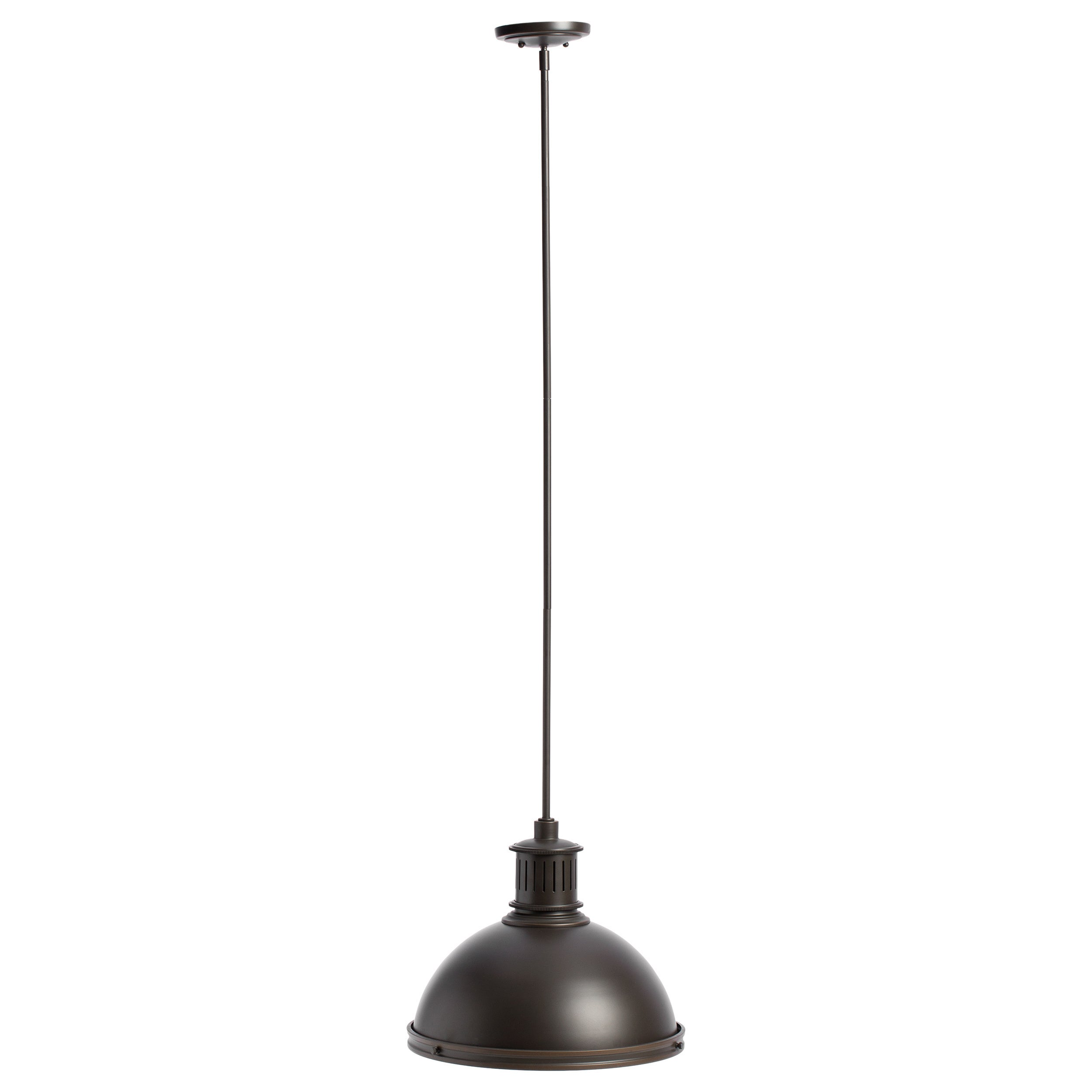 bronze metal oil that well style finish pairs rubbed pendant transitional simple polo an shade this light canarm in with a rod offers pin mini