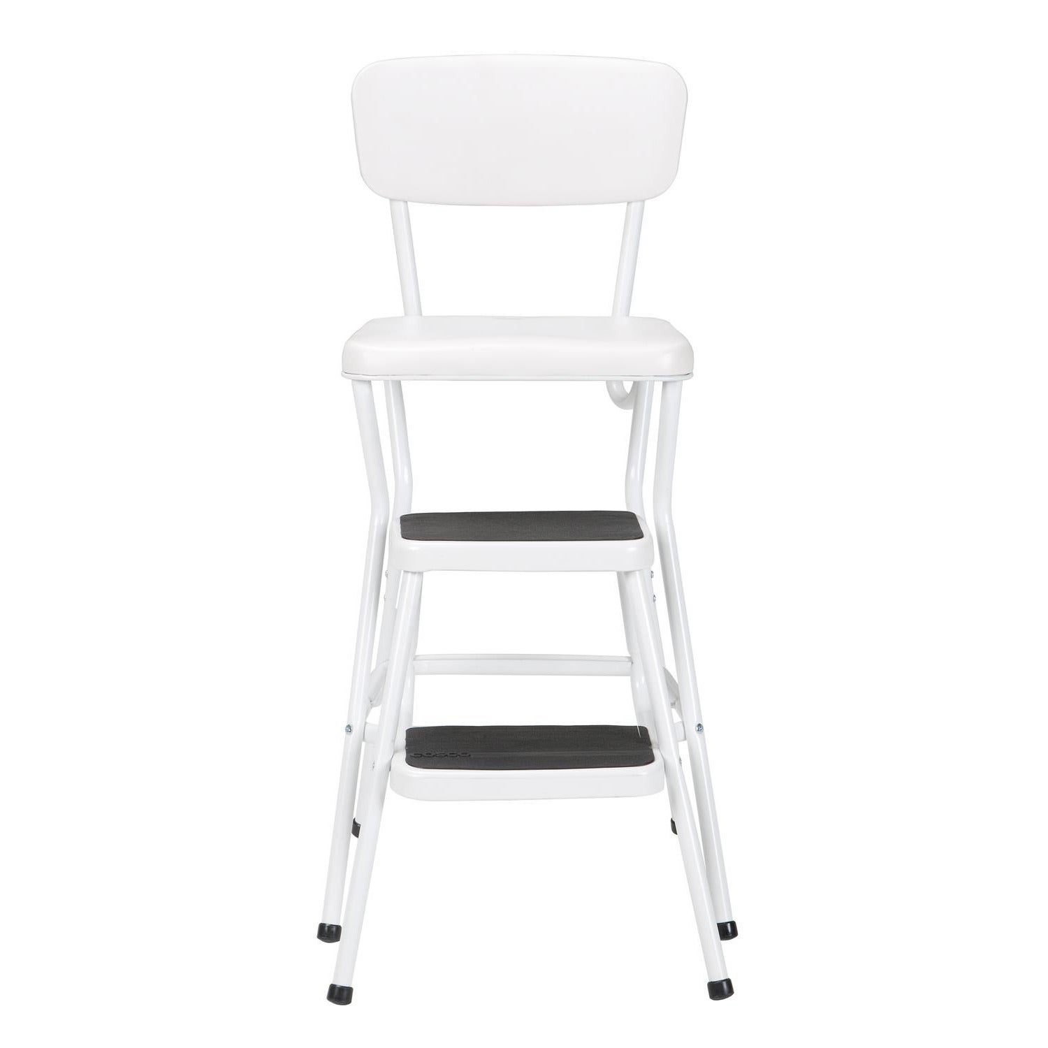 Shop Cosco Retro White Counter Chair/Step Stool   Free Shipping Today    Overstock.com   8026499