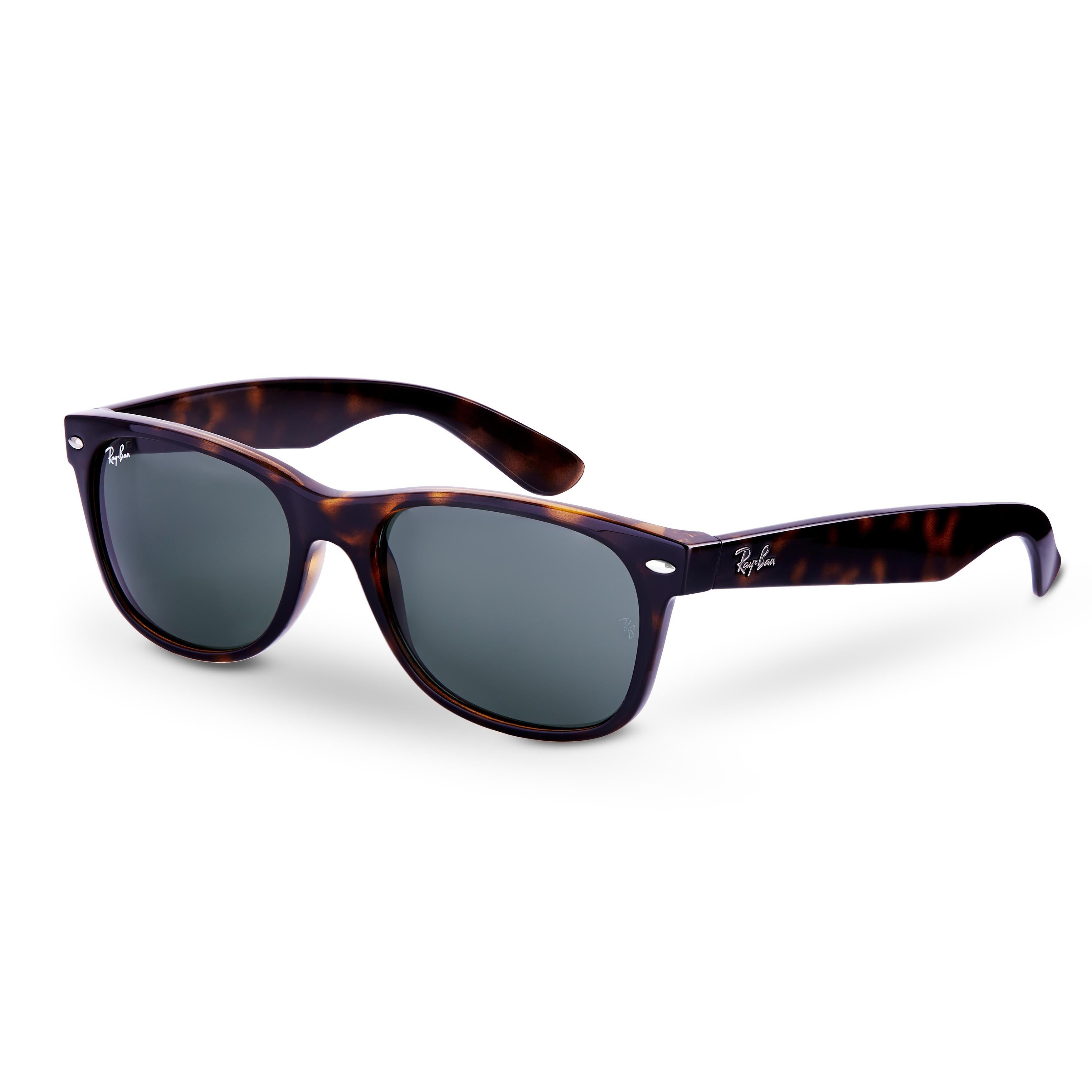 bb19aae6346c0 Ray-Ban New Wayfarer RB2132 Unisex Tortoise Frame Green Lens Sunglasses -  Brown