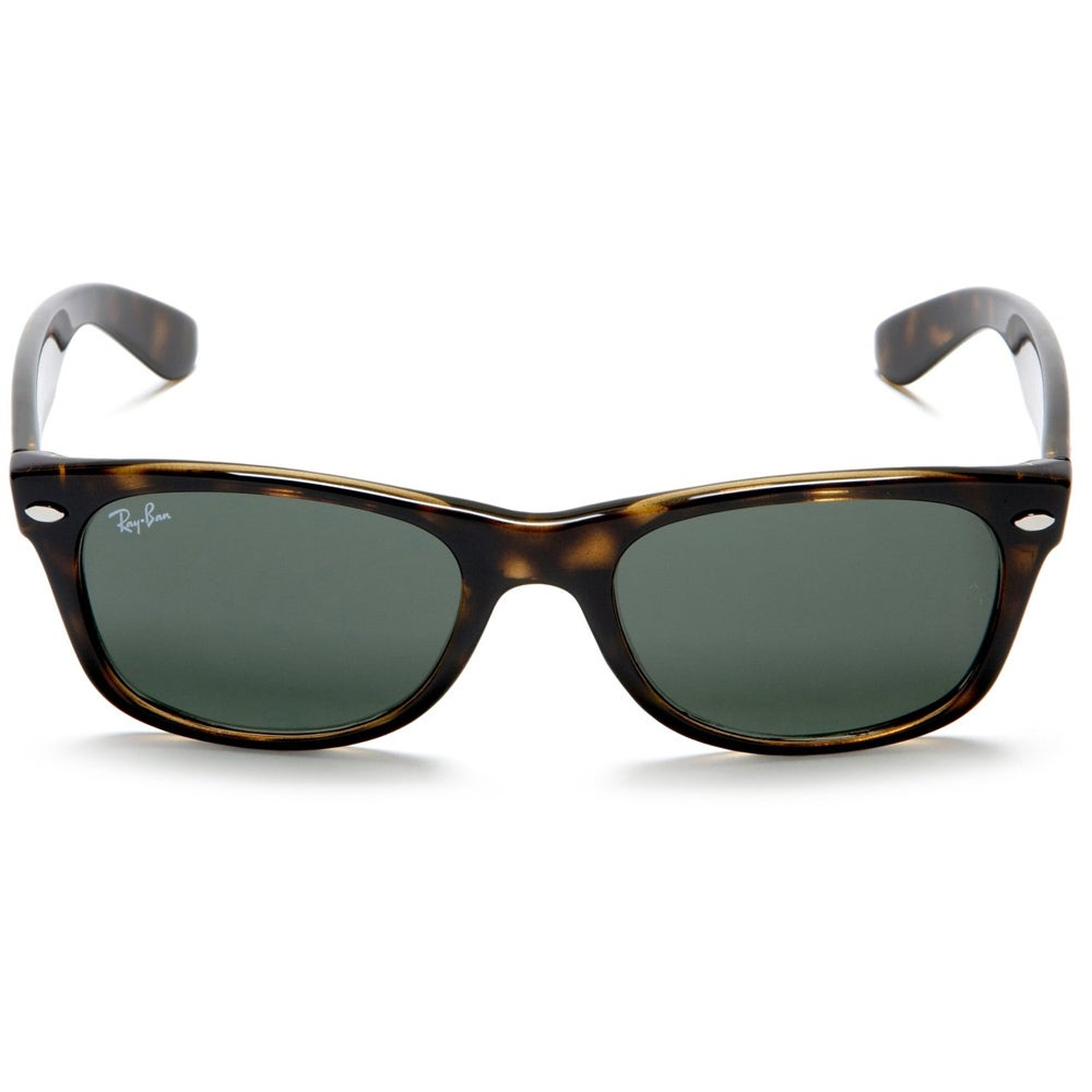 eb761f0069c Shop Ray-Ban New Wayfarer RB2132 Unisex Tortoise Frame Green Lens Sunglasses  - Brown - Free Shipping Today - Overstock - 8028460
