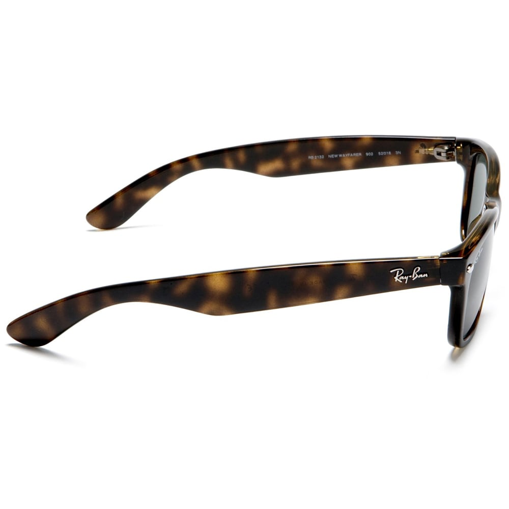 f3bd254940 Shop Ray-Ban New Wayfarer RB2132 Unisex Tortoise Frame Green Lens Sunglasses  - Brown - Free Shipping Today - Overstock - 8028460