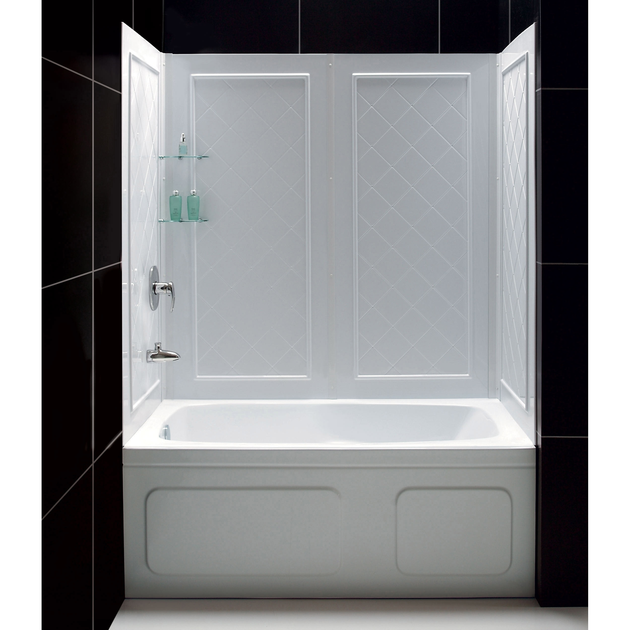 Shop DreamLine QWALL-Tub 56-60 in. W x 28-32 in. D x 60 in. H ...