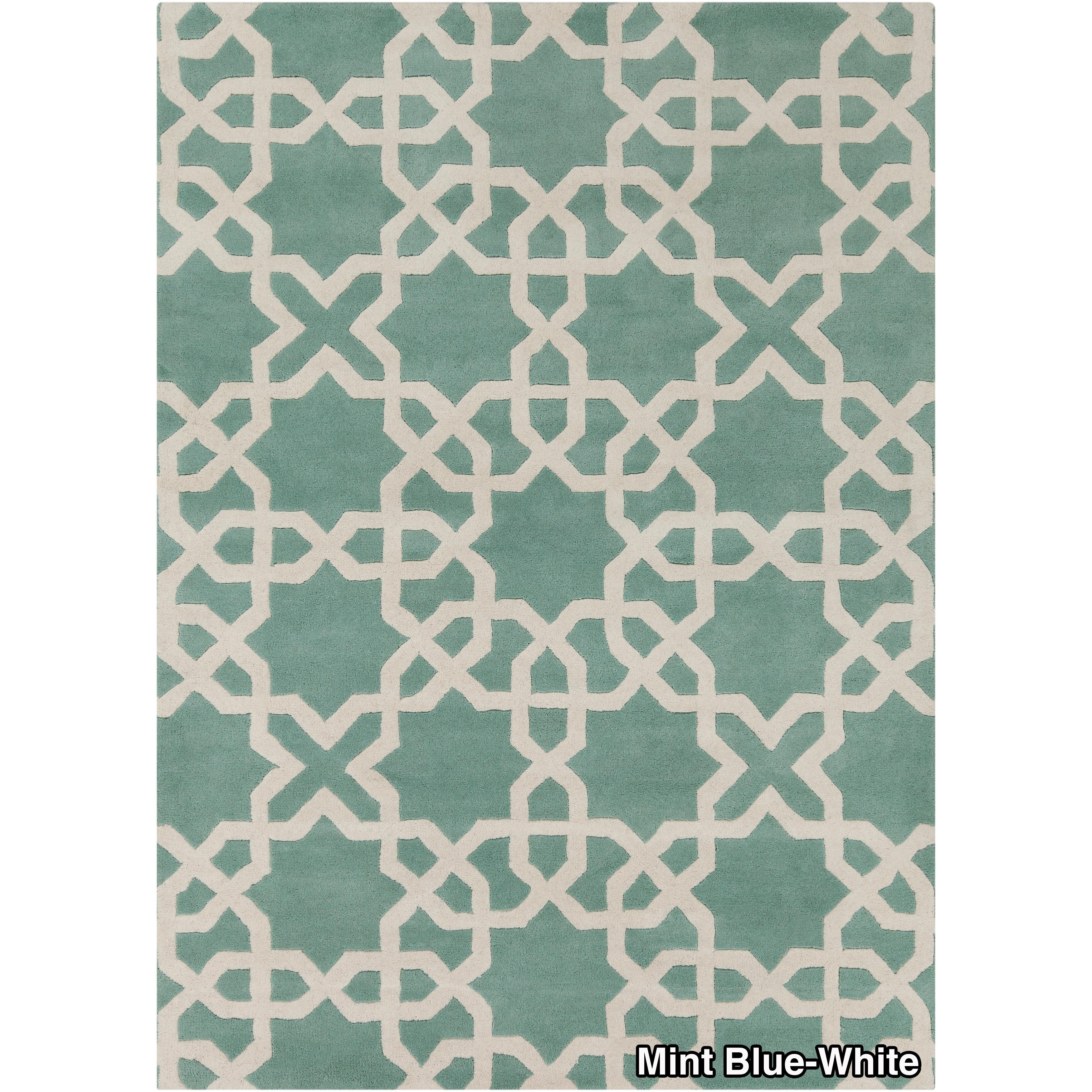 artist's loom handtufted moroccan geometric wool rug ('x')  freeshipping today  overstockcom  . artist's loom handtufted moroccan geometric wool rug ('x