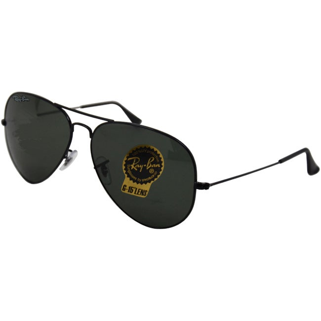 11dff41210d5f Shop Ray-Ban RB3026 Aviator Sunglasses - Black - Free Shipping Today -  Overstock - 8032902