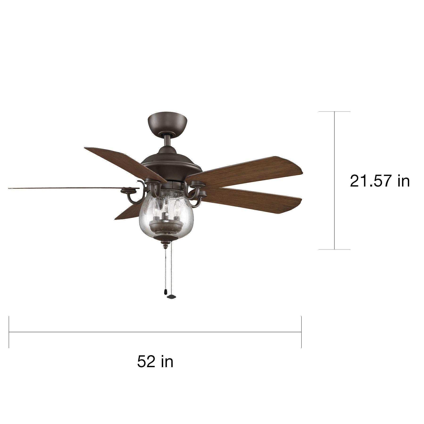 Fanimation Crestford 52 inch Oil Rubbed Bronze 3 light Ceiling Fan