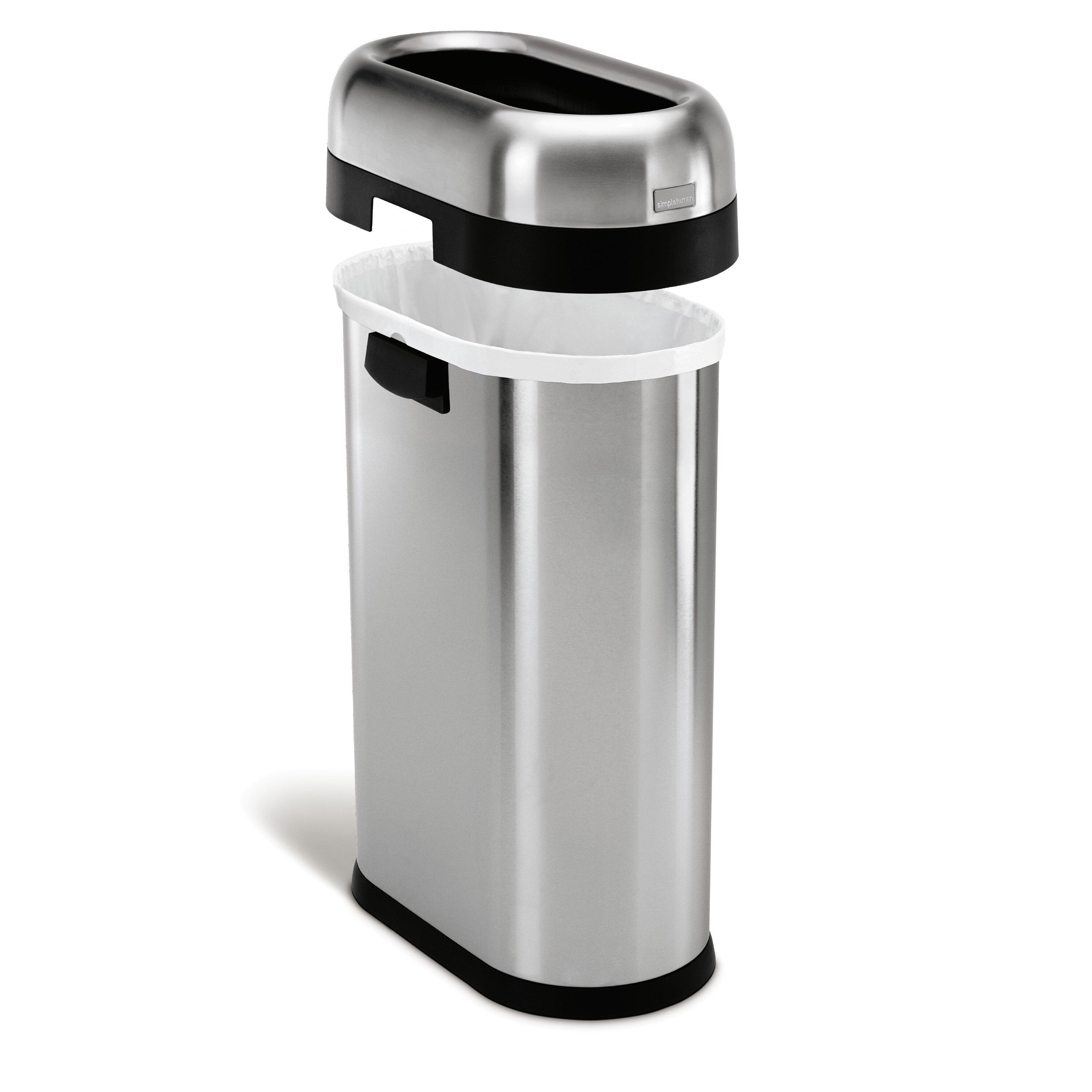 Simplehuman Slim Open Brushed Stainless Steel 13 gallon 50 liter