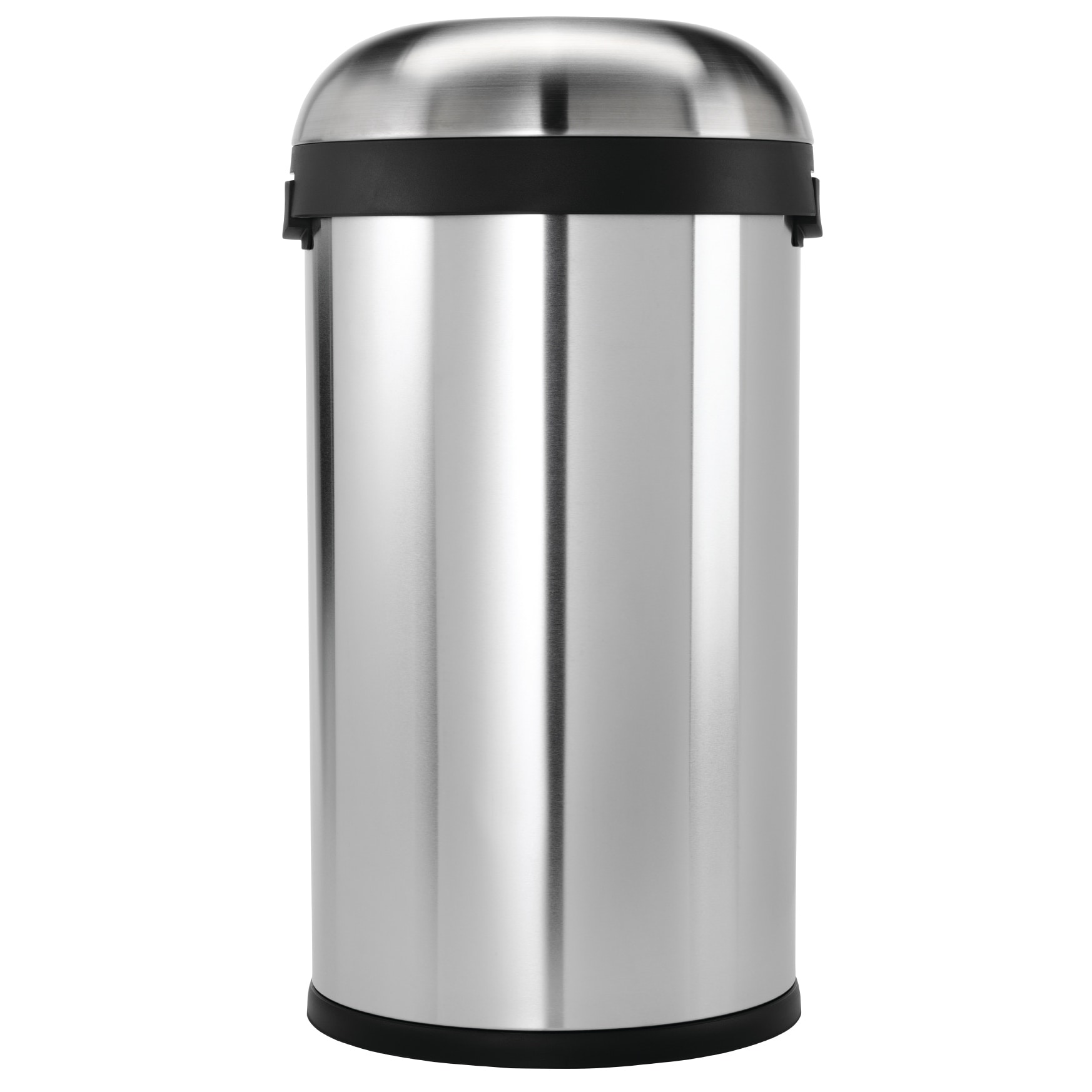 Simplehuman Bullet Open Brushed Stainless Steel 16 gallon Trash Can