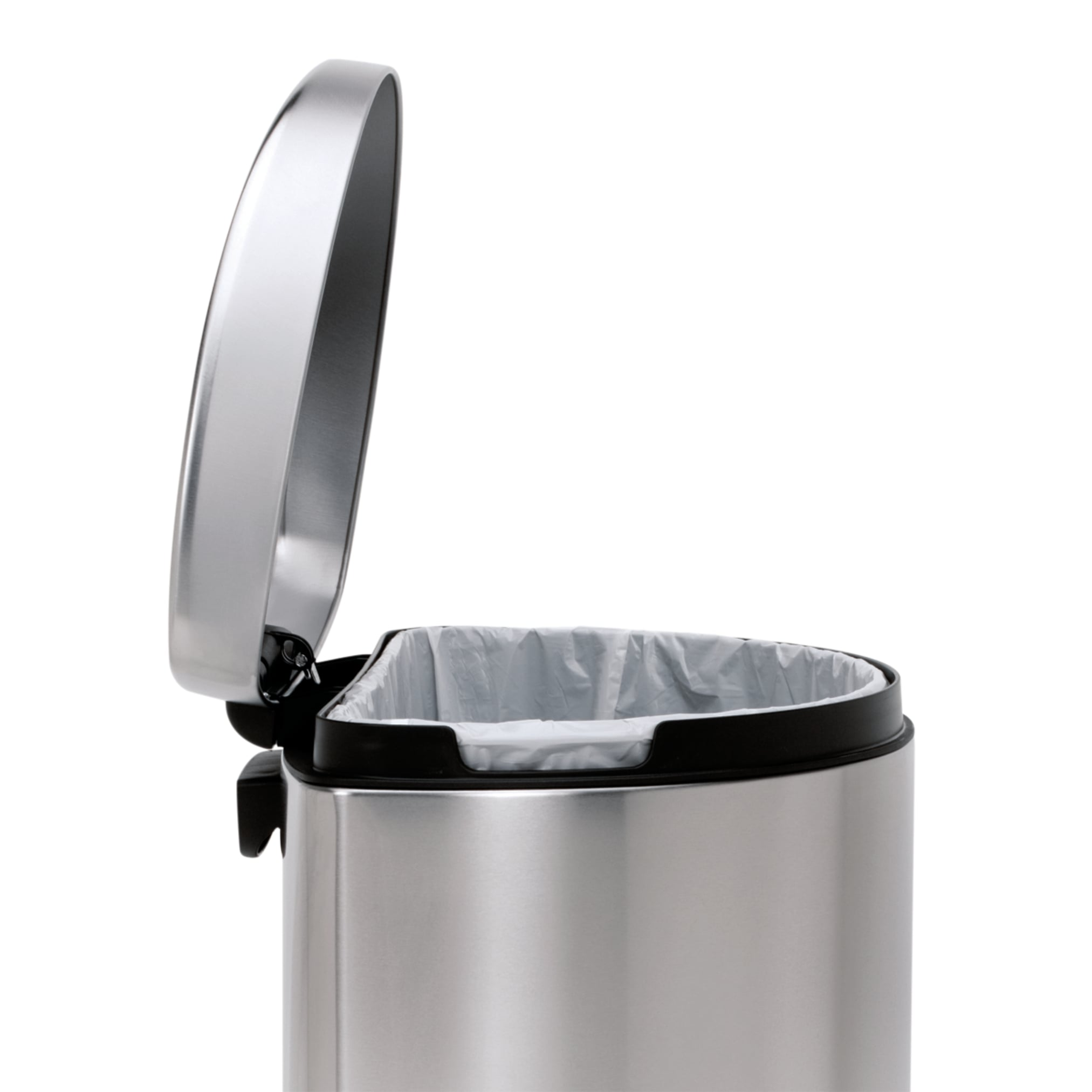 simplehuman Semi Round Step Brushed Stainless Steel Trash Can 10 5